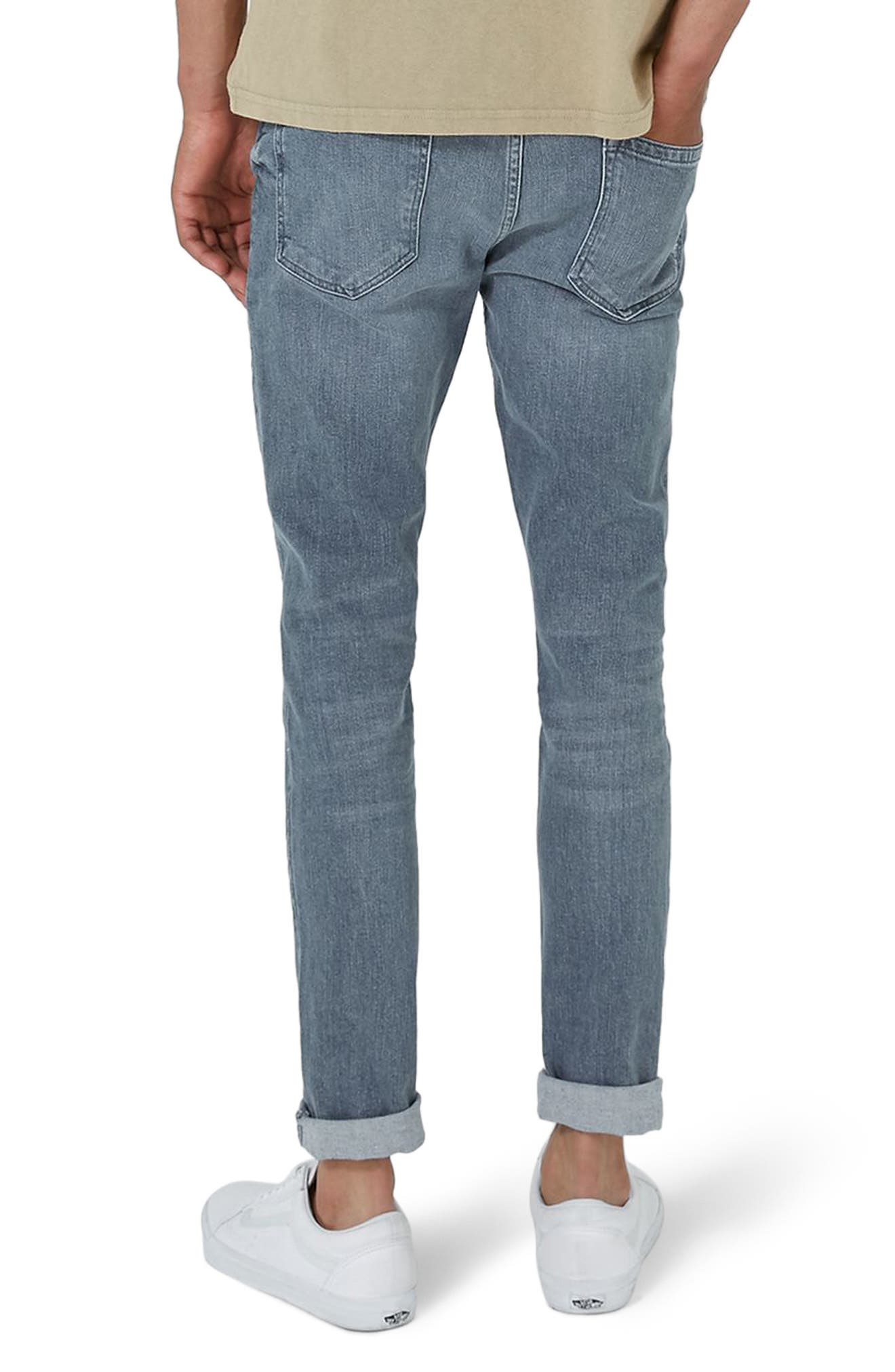 Extreme Rip Stretch Jeans,                             Alternate thumbnail 2, color,