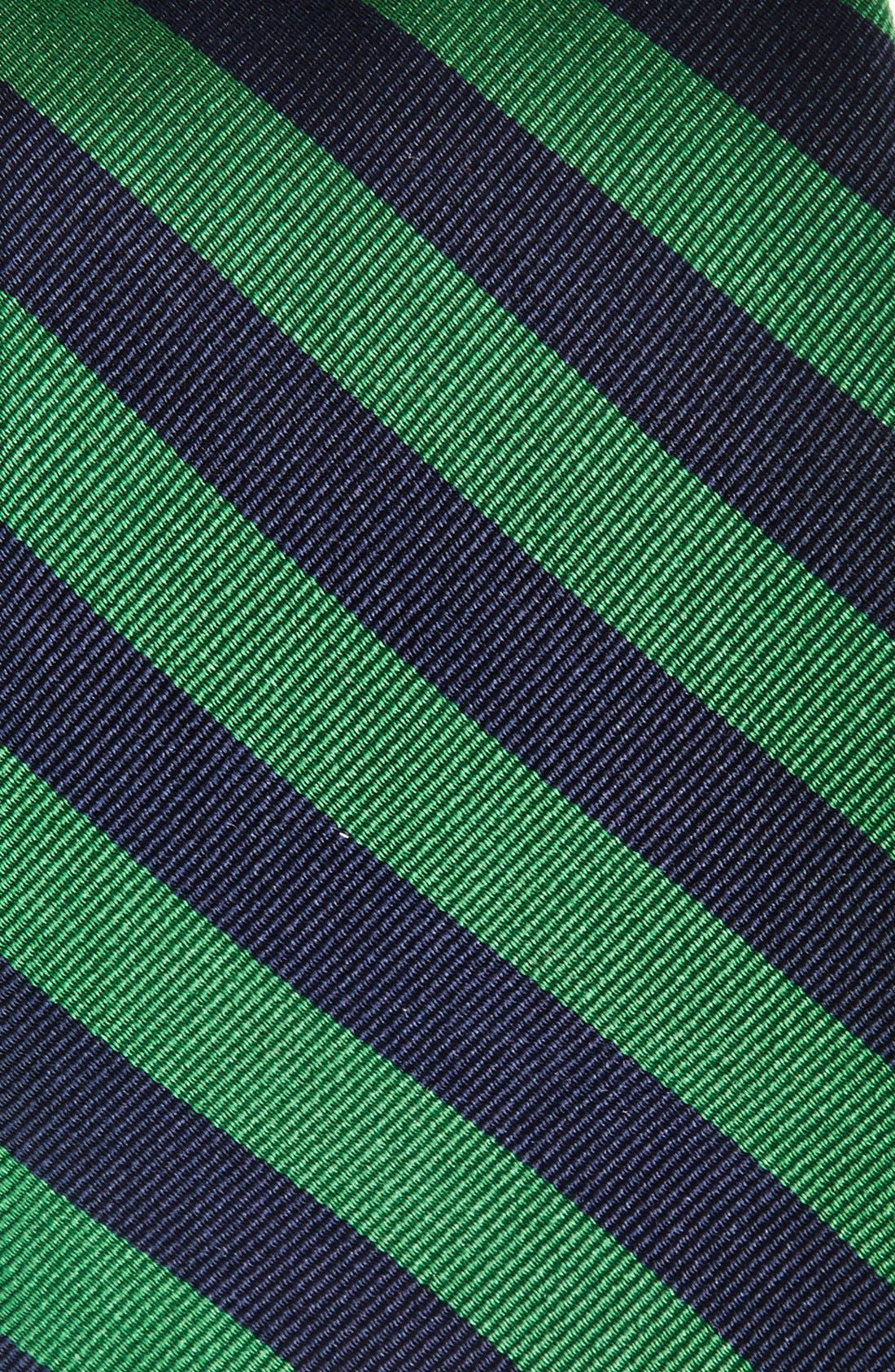 Stripe Silk Tie,                             Alternate thumbnail 2, color,                             GREEN