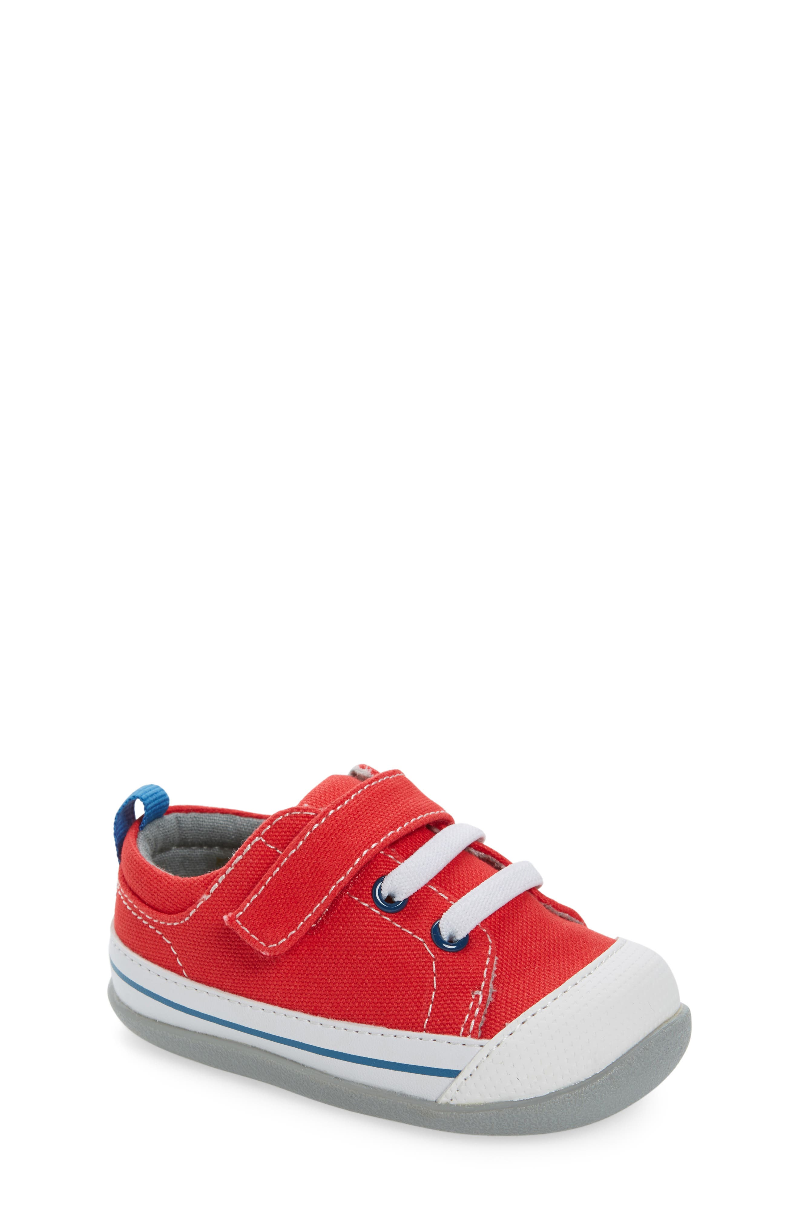 Stevie II Sneaker,                         Main,                         color, RED CANVAS
