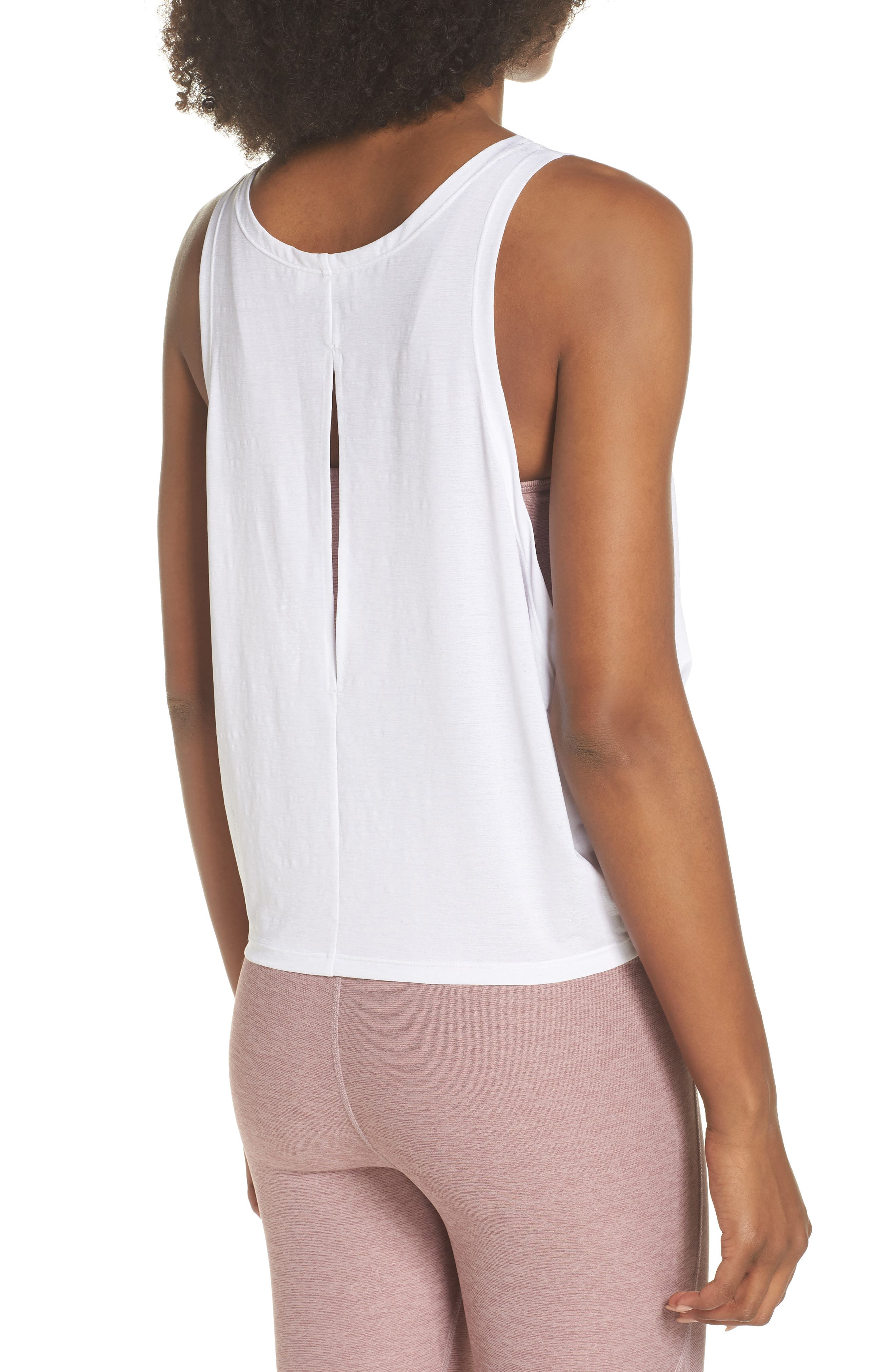 Buckley Crop Top,                             Alternate thumbnail 2, color,                             WHITE