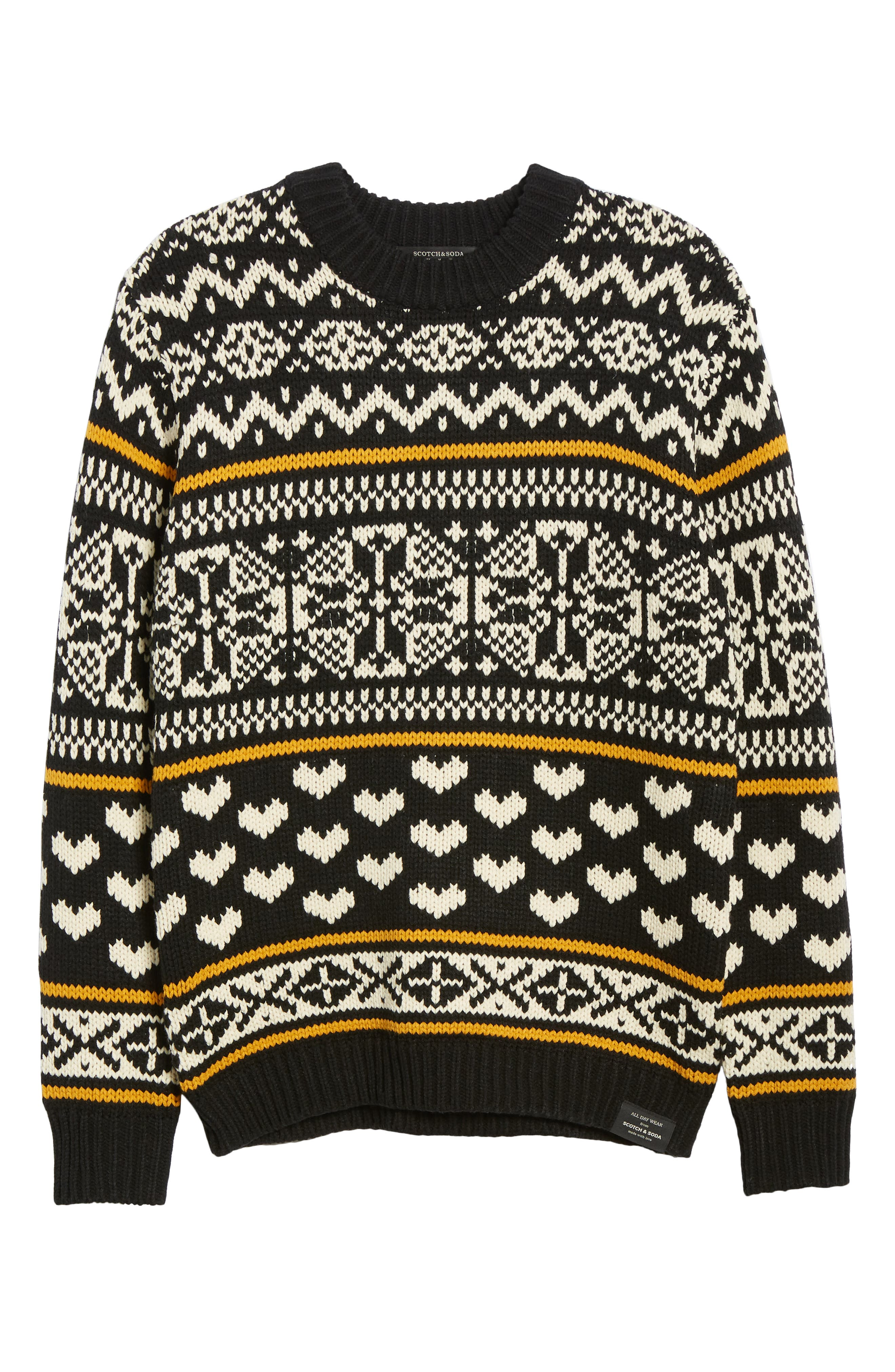 Chunky Fair Isle Sweater,                             Alternate thumbnail 6, color,                             COMBO B
