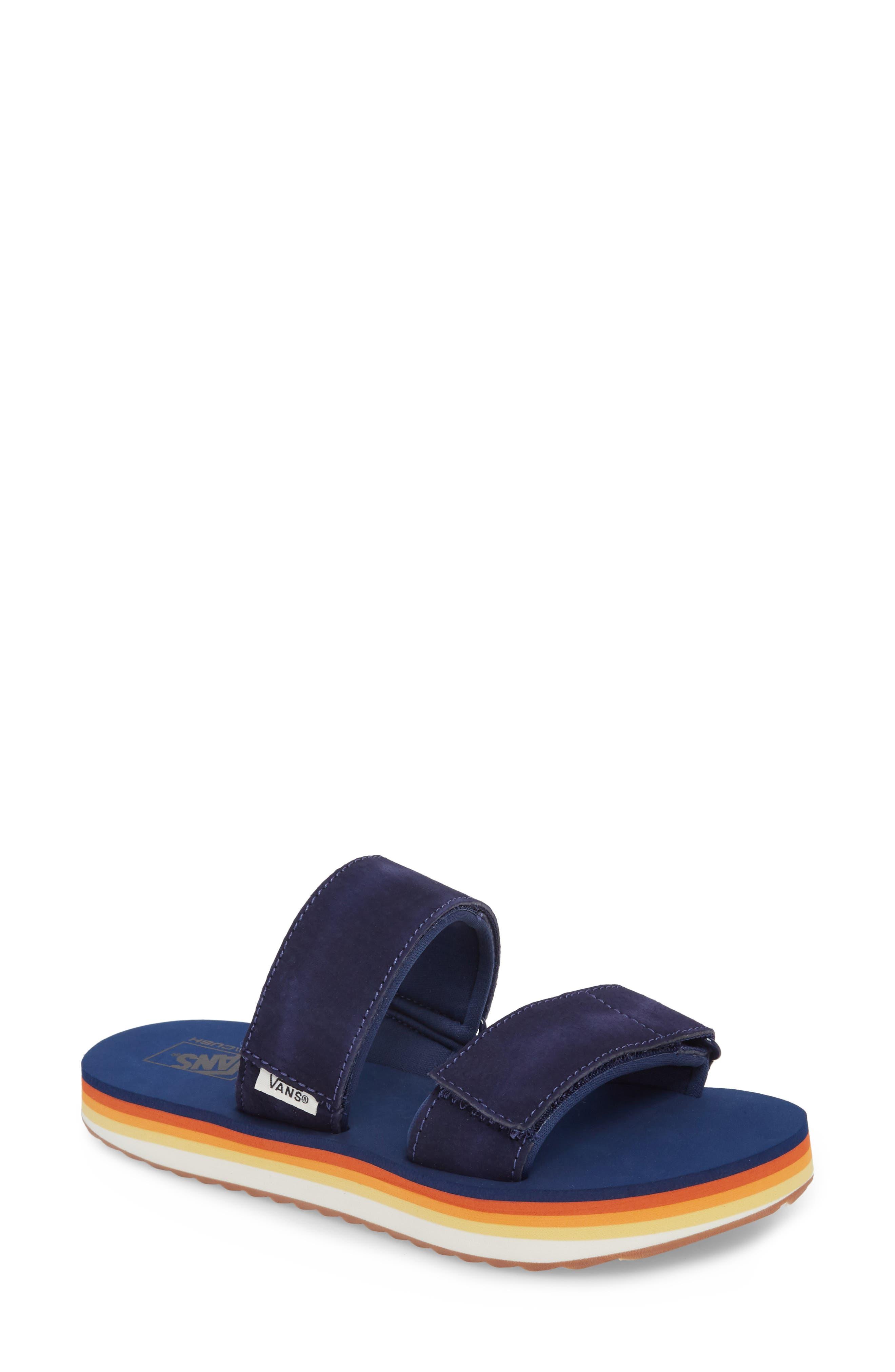 Cayucas Platform Slide Sandal,                             Main thumbnail 1, color,                             400