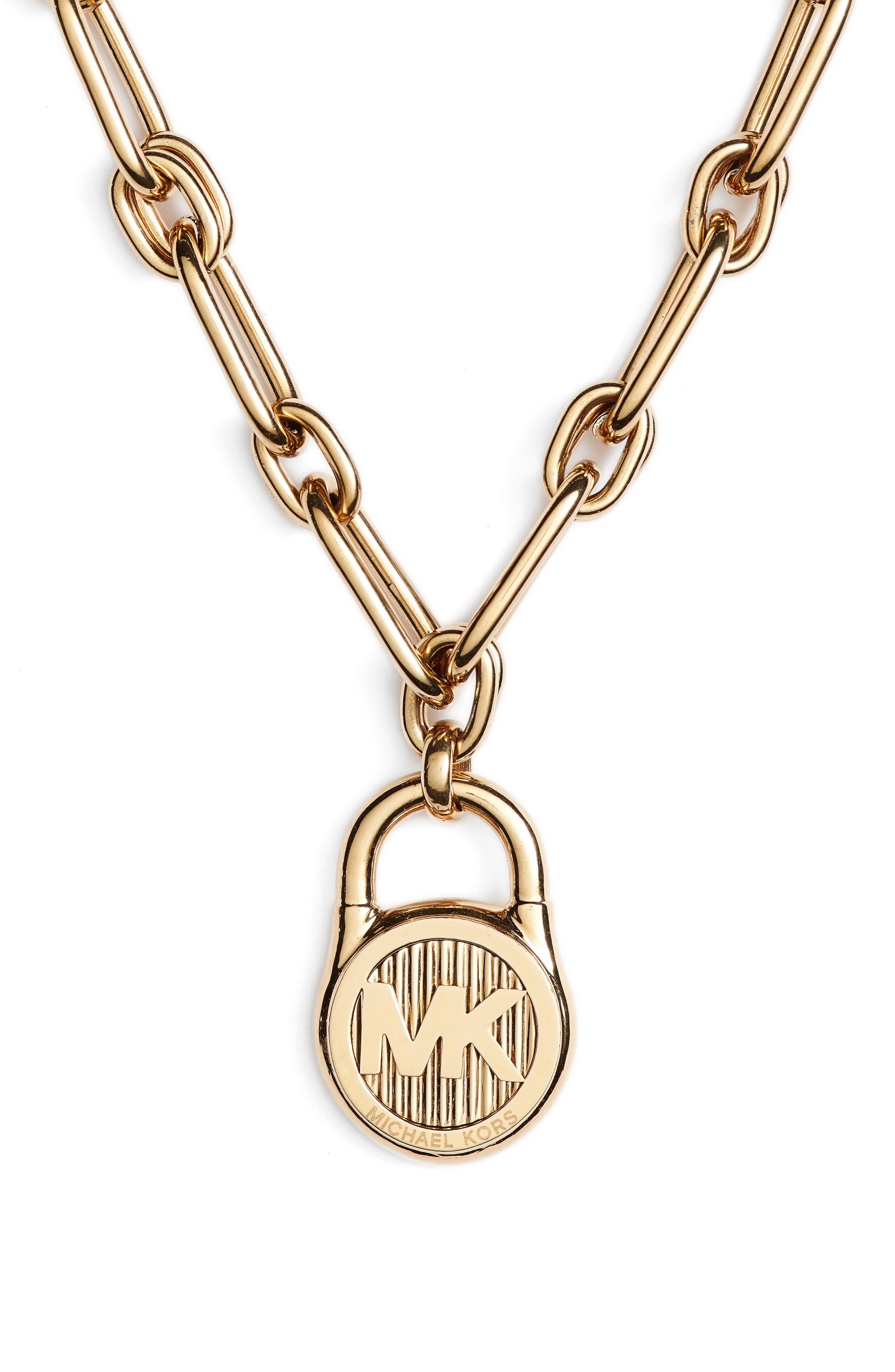 Padlock Pendant Necklace,                         Main,                         color,