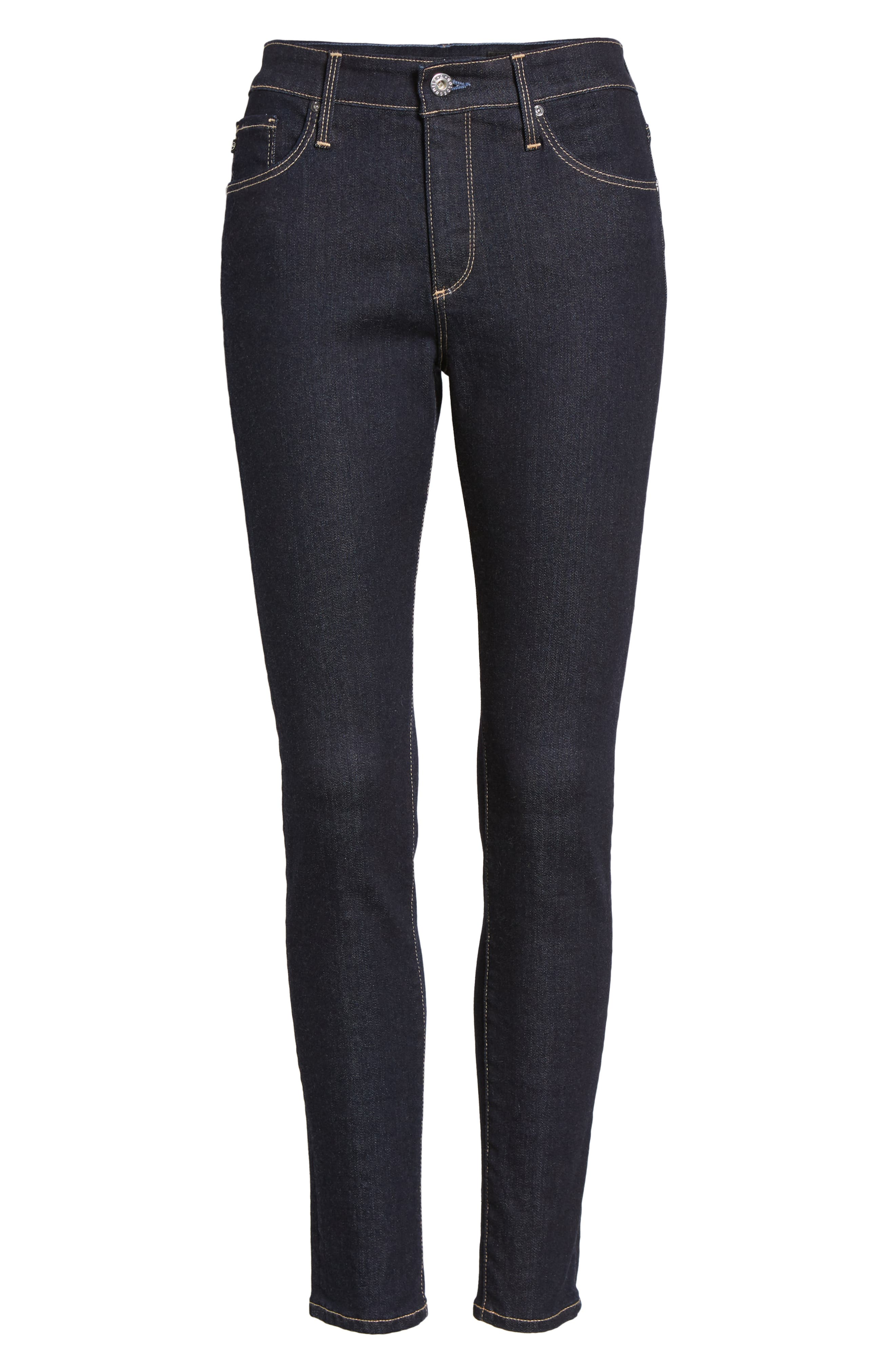 The Farrah Ankle Skinny Jeans,                             Alternate thumbnail 7, color,                             INDIGO SPRING