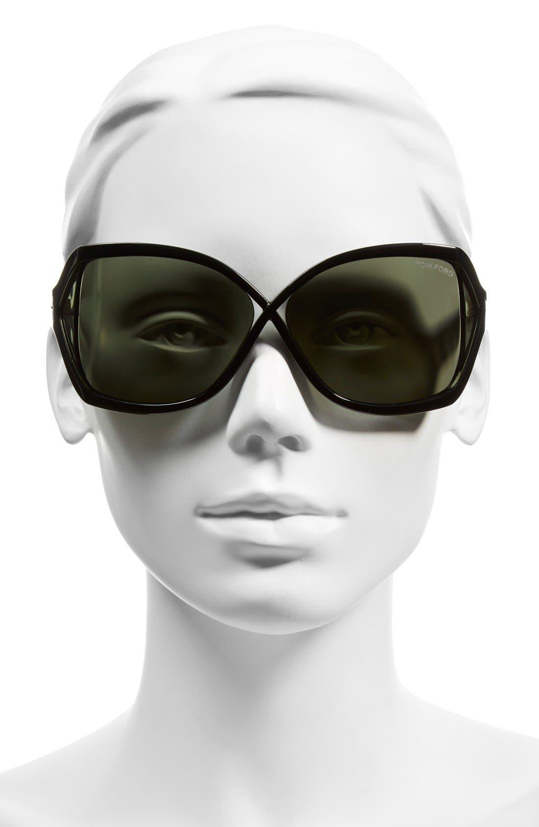 'Julianne' 62mm Sunglasses,                             Alternate thumbnail 2, color,                             002