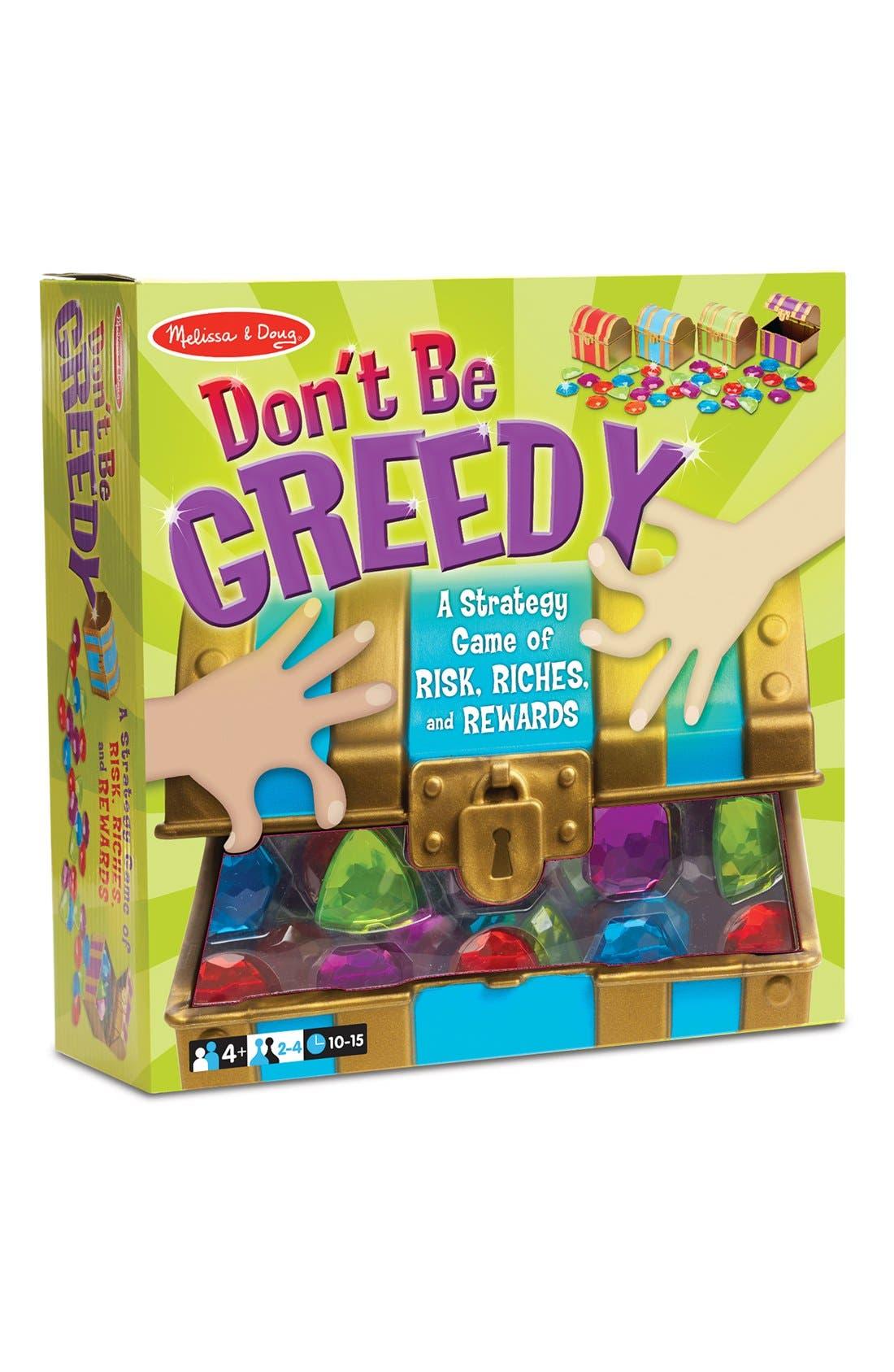 'Don't Be Greedy' Game,                             Main thumbnail 1, color,                             GREEN