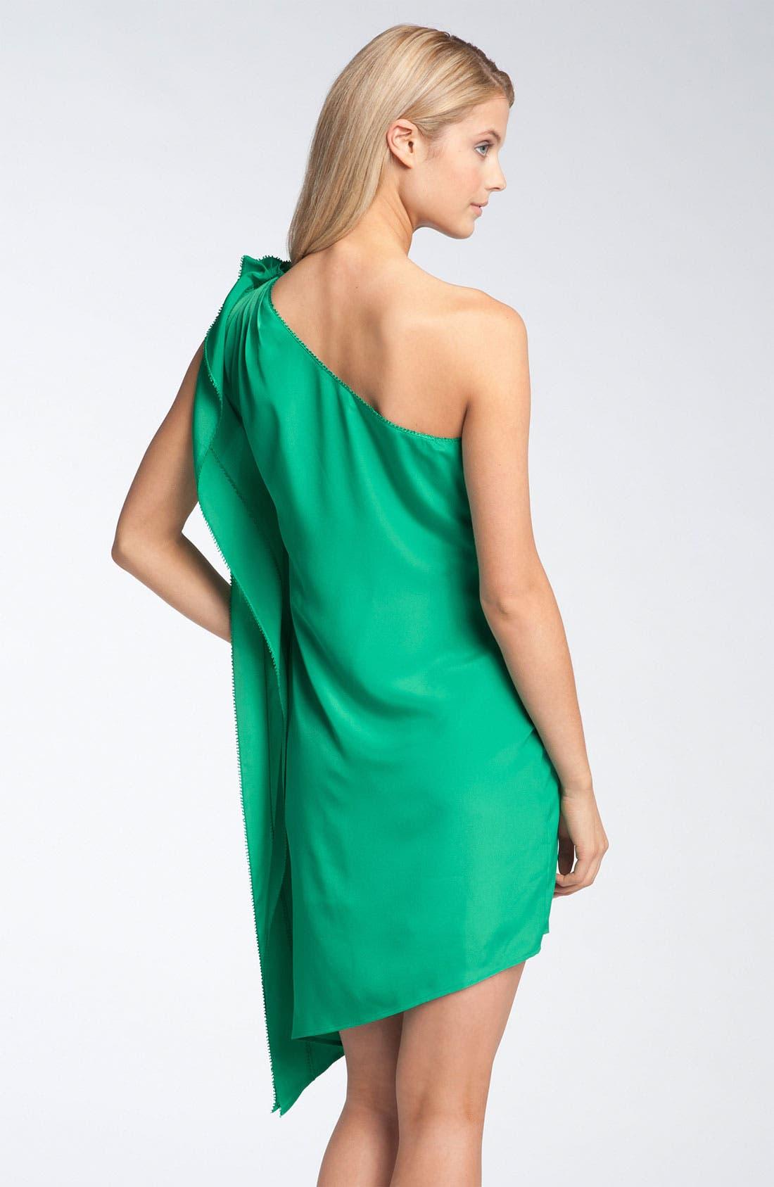 JESSICA SIMPSON,                             One Shoulder Ruffle Dress,                             Alternate thumbnail 3, color,                             310