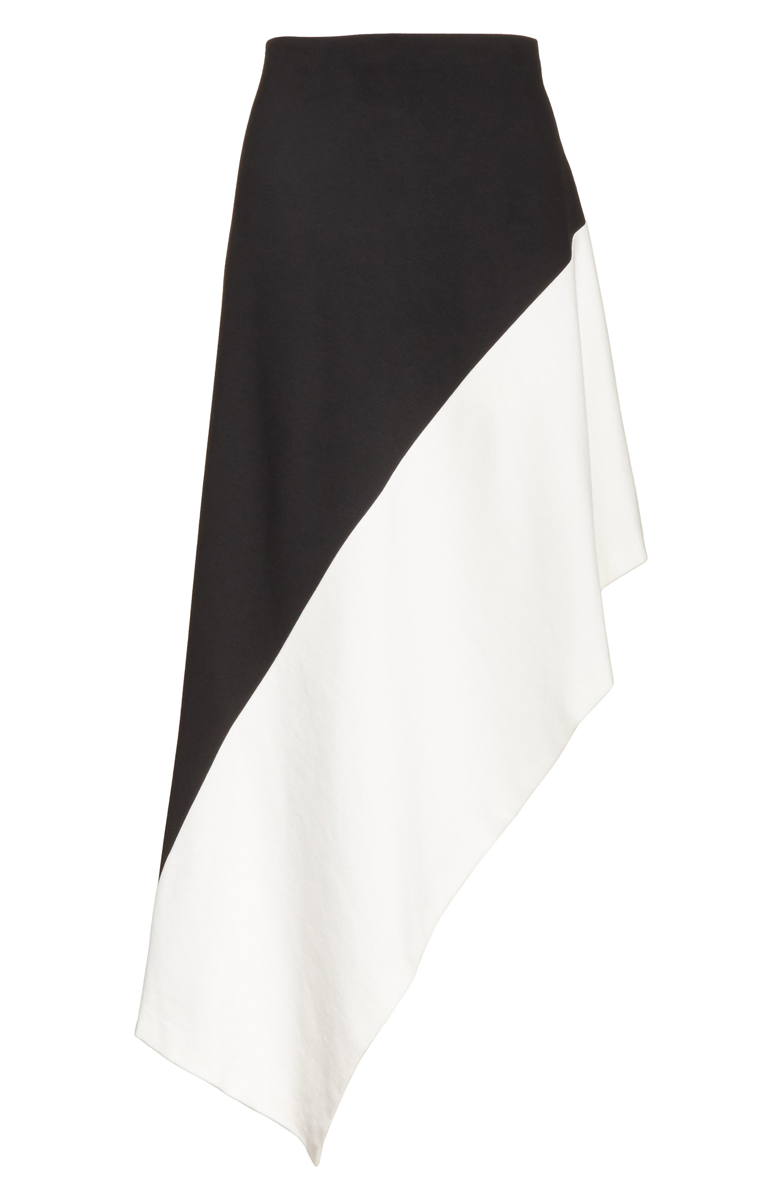 Slashed Panel Jersey Skirt,                             Alternate thumbnail 6, color,