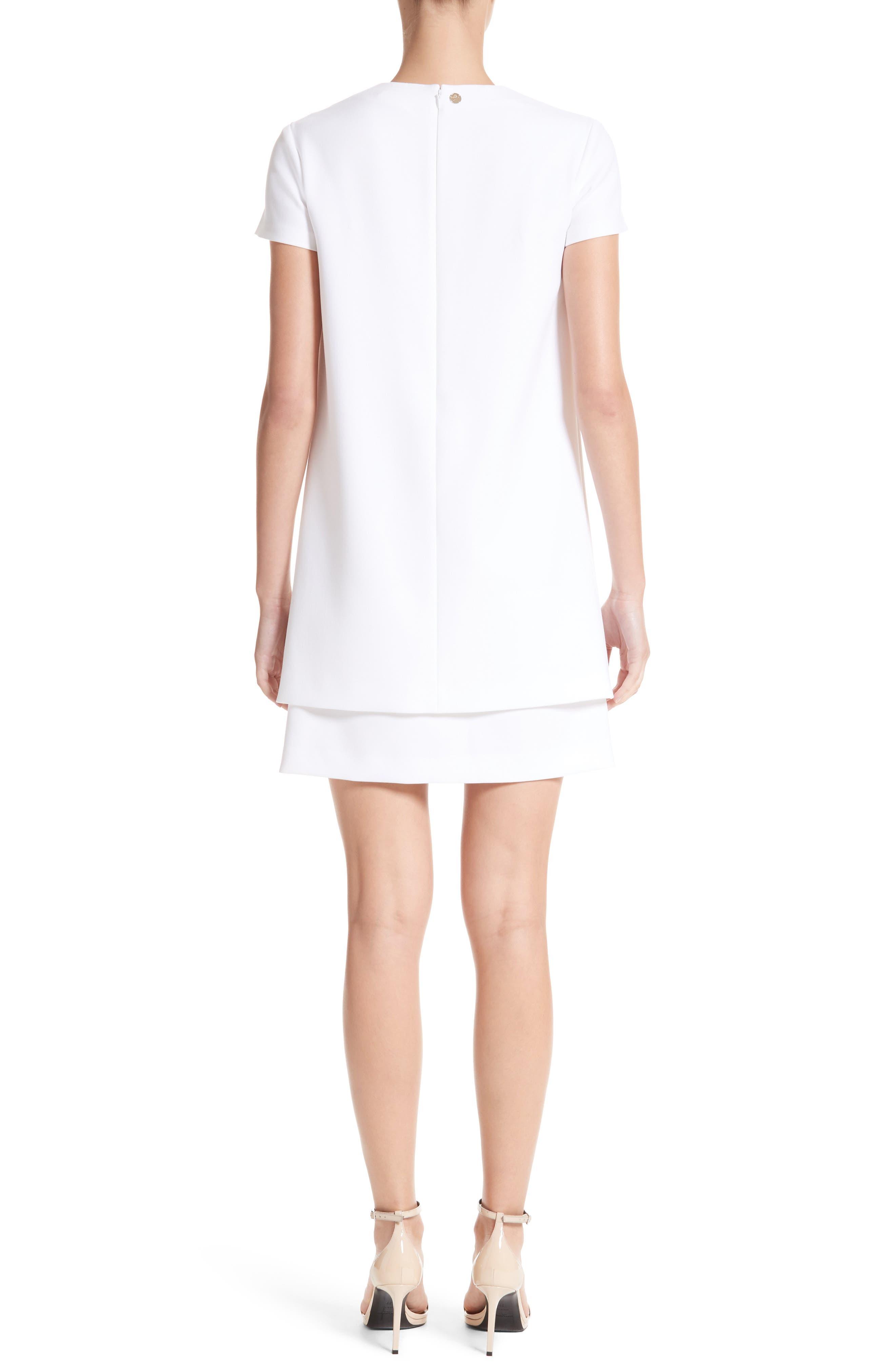 Cutout Stretch Cady Dress,                             Alternate thumbnail 2, color,                             111