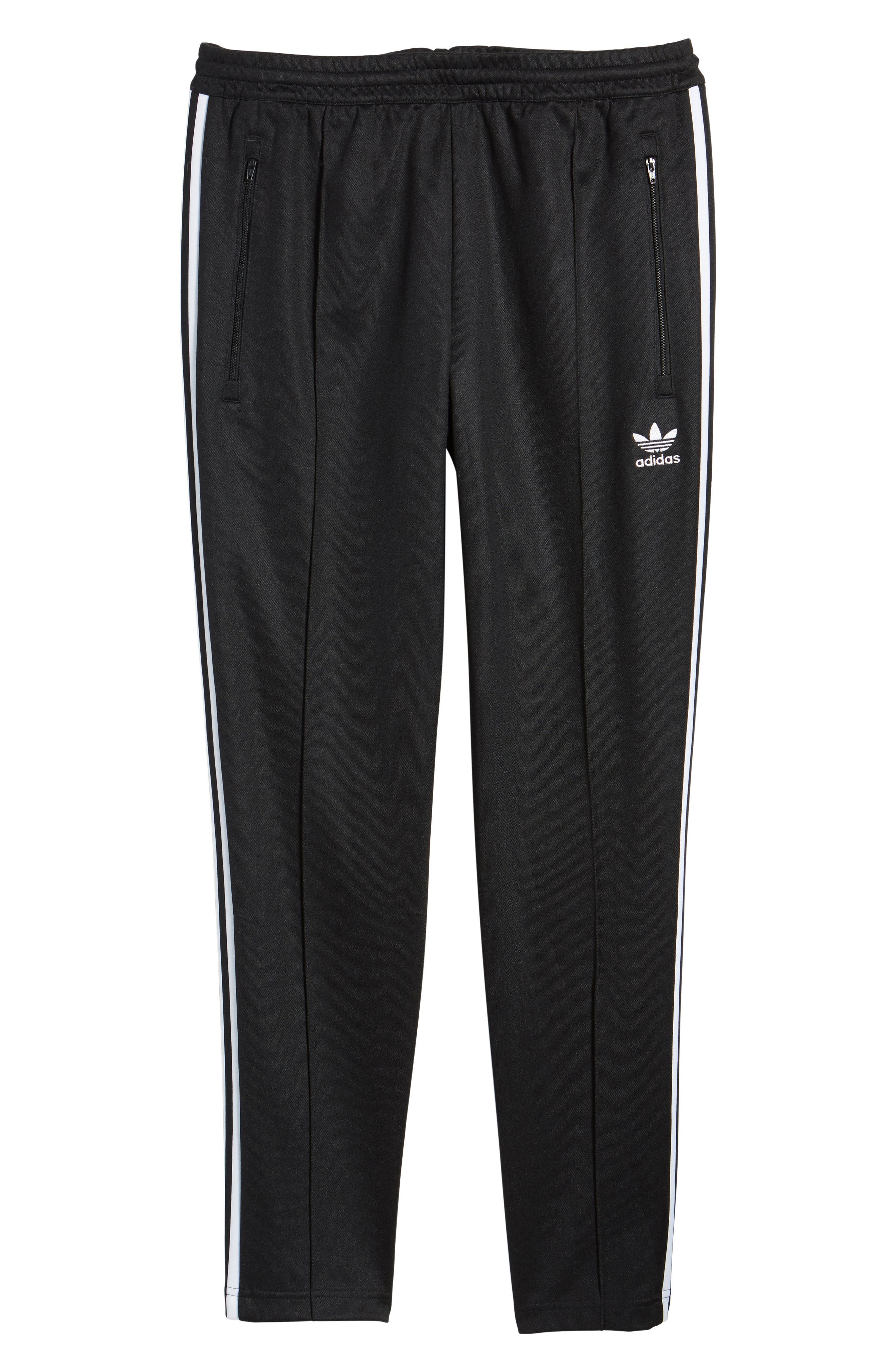Beckenbauer Track Pants,                             Alternate thumbnail 5, color,                             BLACK/ WHITE