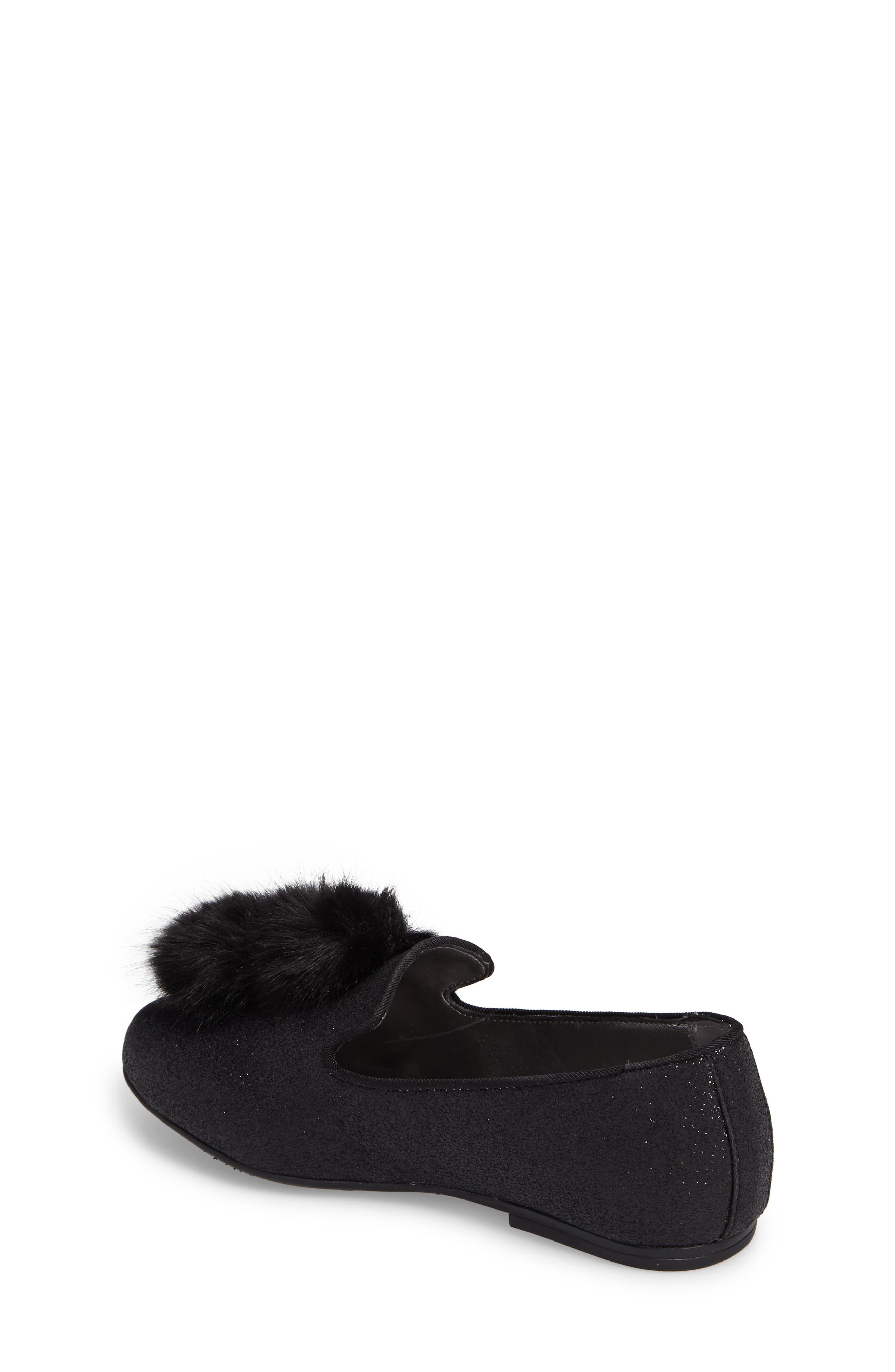 Caela Faux Fur Loafer,                             Alternate thumbnail 2, color,                             001
