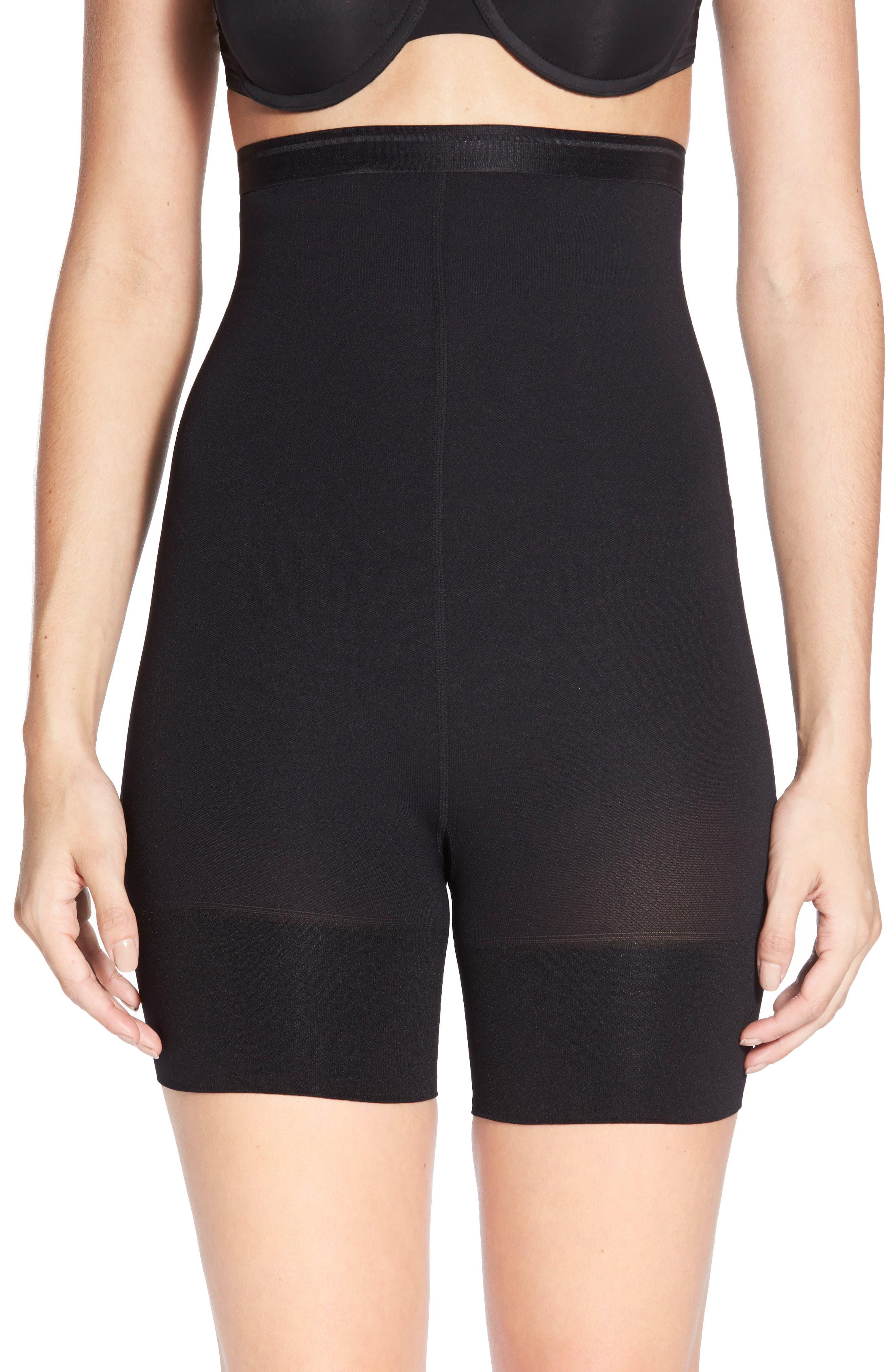 Shorty Shaping Shorts,                             Alternate thumbnail 2, color,                             BLACK