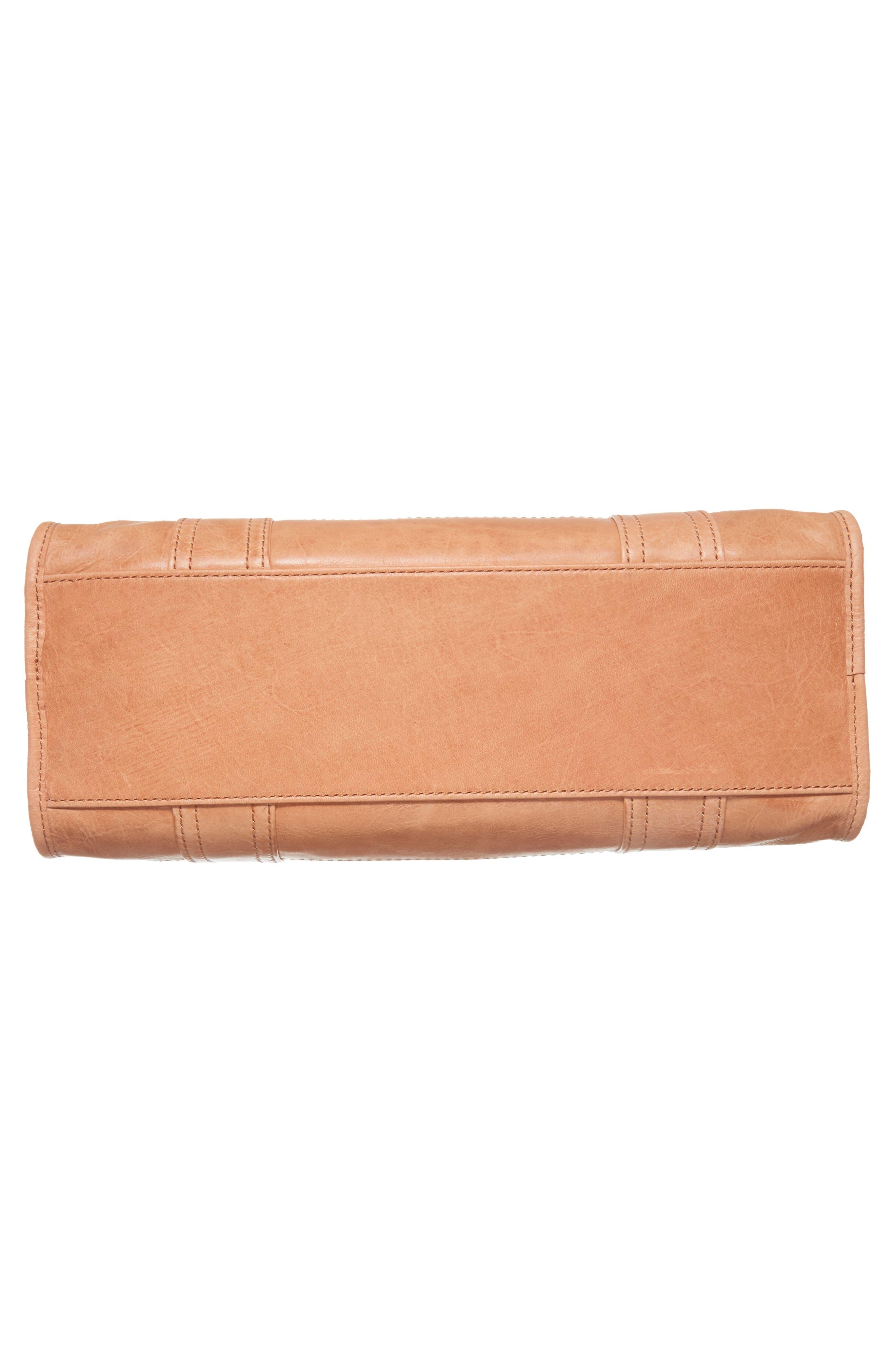 'Melissa' Washed Leather Satchel,                             Alternate thumbnail 6, color,                             DUSTY ROSE