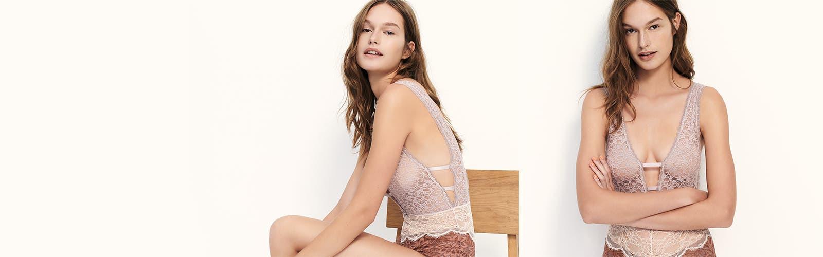 Sexy surprises: women's lingerie, bras and panties.