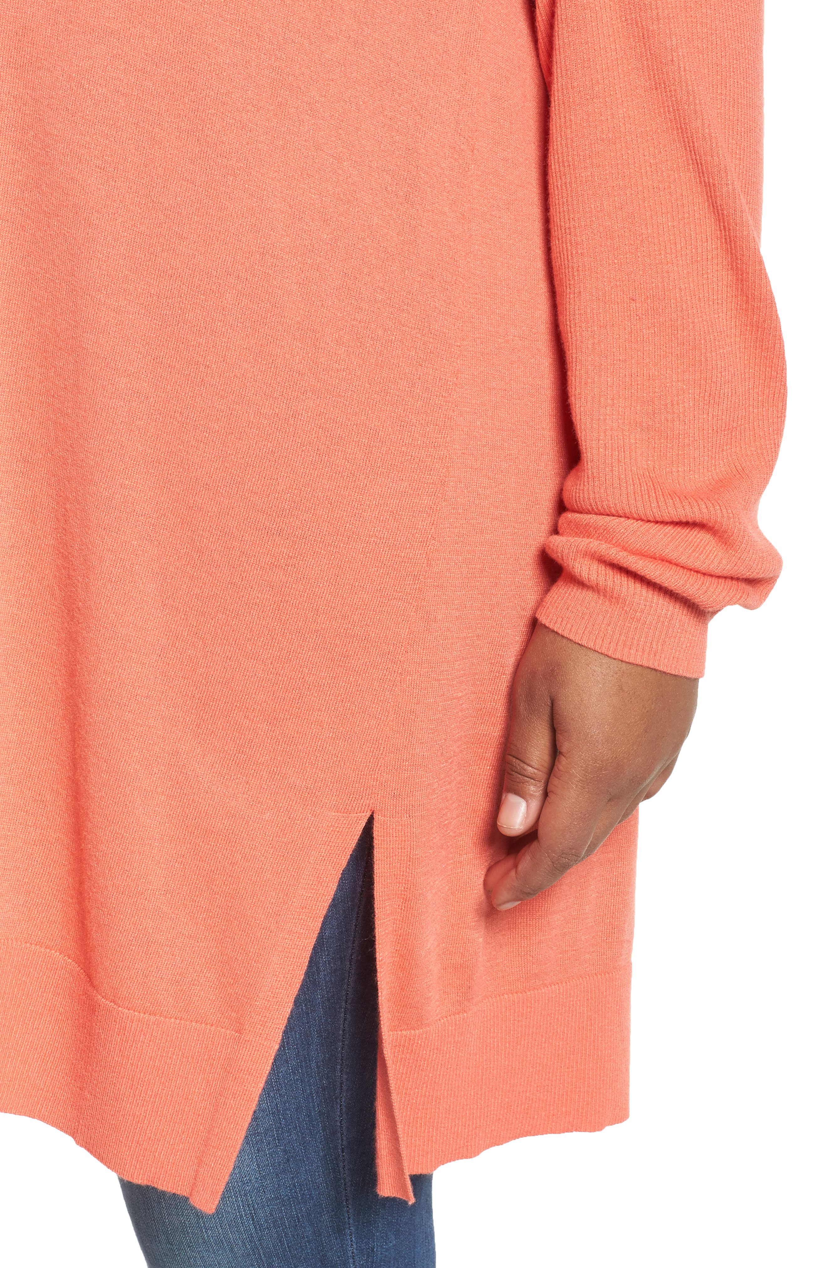 Cowl Neck Tunic Sweater,                             Alternate thumbnail 37, color,