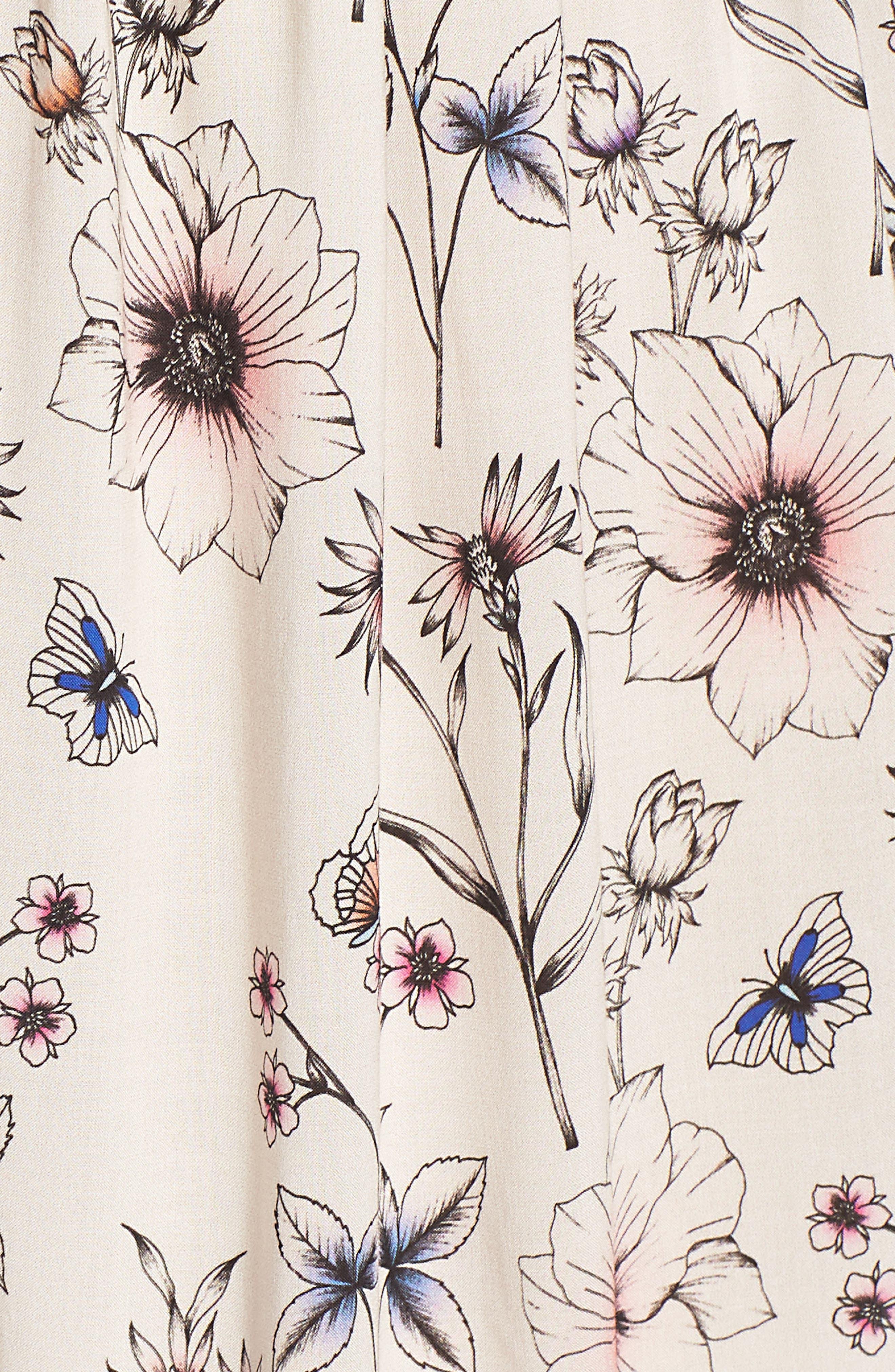 Floral Printed Minidress,                             Alternate thumbnail 6, color,                             900