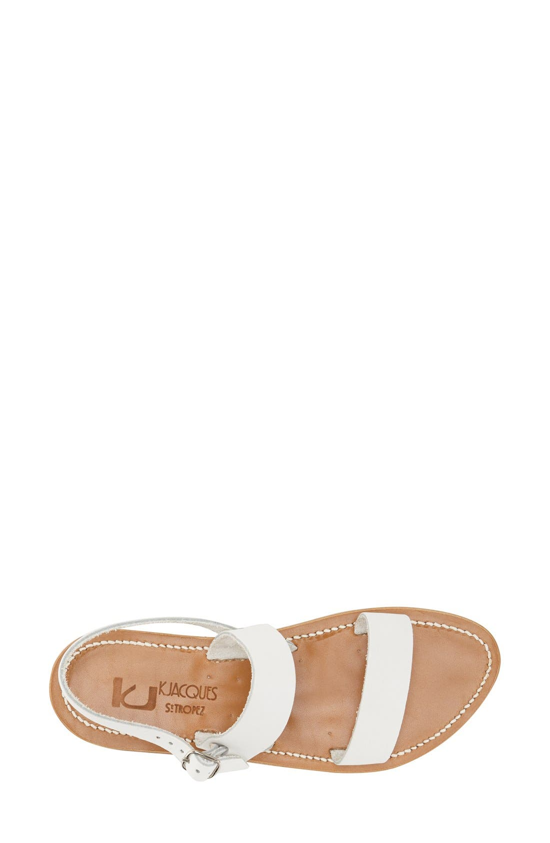 K Jacques St. Tropez Flat 'Barigoule' Vachetta Leather Sandal,                             Alternate thumbnail 4, color,                             101