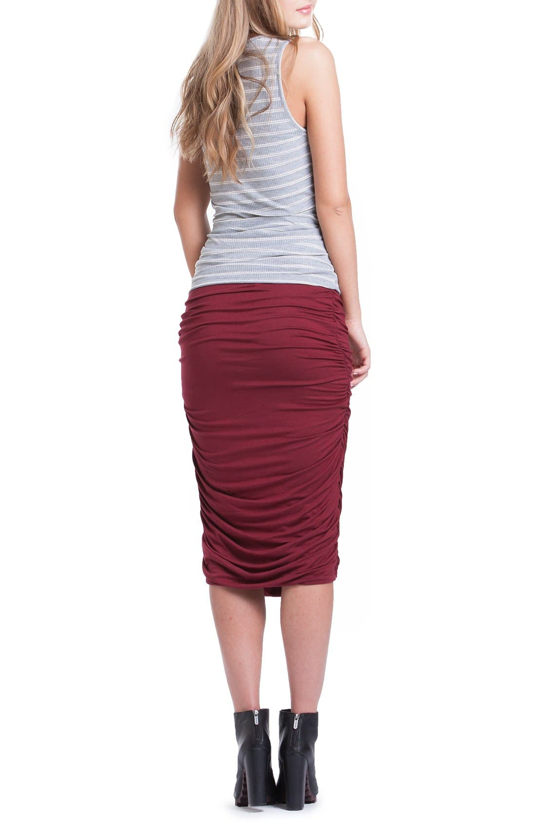 Ruched Maternity Tank,                             Alternate thumbnail 2, color,                             060