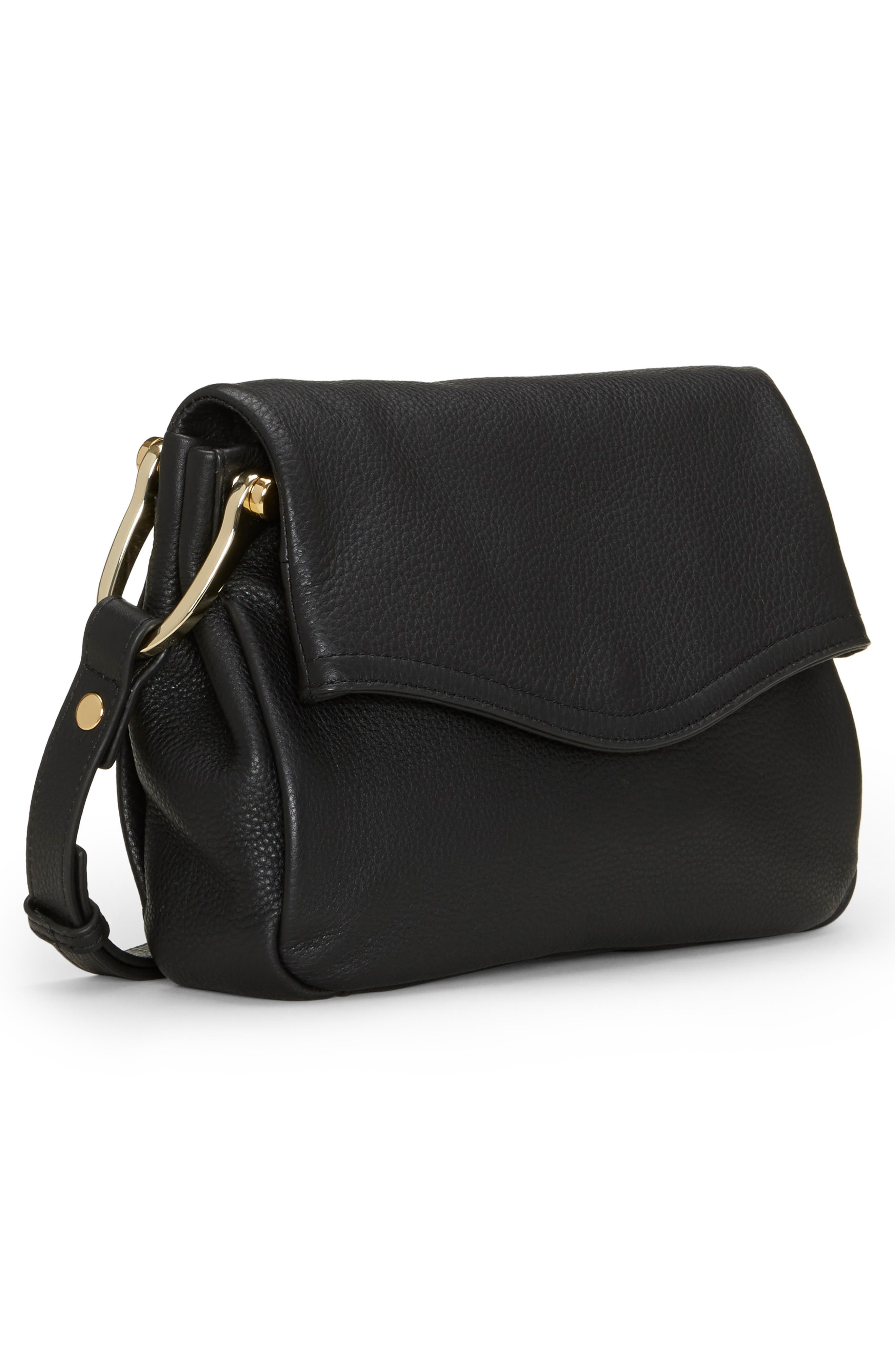 VINCE CAMUTO,                             Clem Leather Crossbody Bag,                             Alternate thumbnail 4, color,                             001