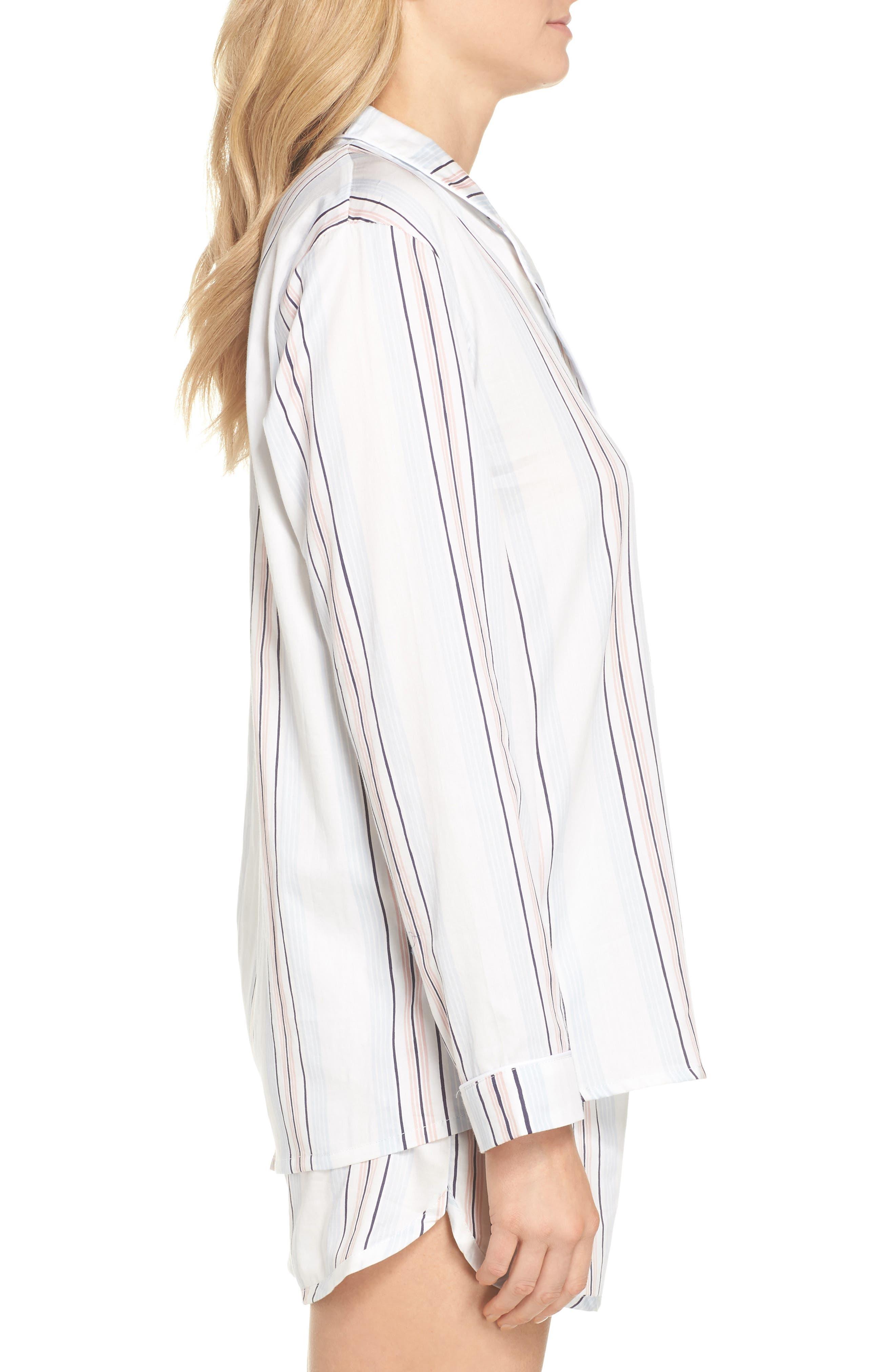 Candy Stripe Short Pajamas,                             Alternate thumbnail 3, color,                             110