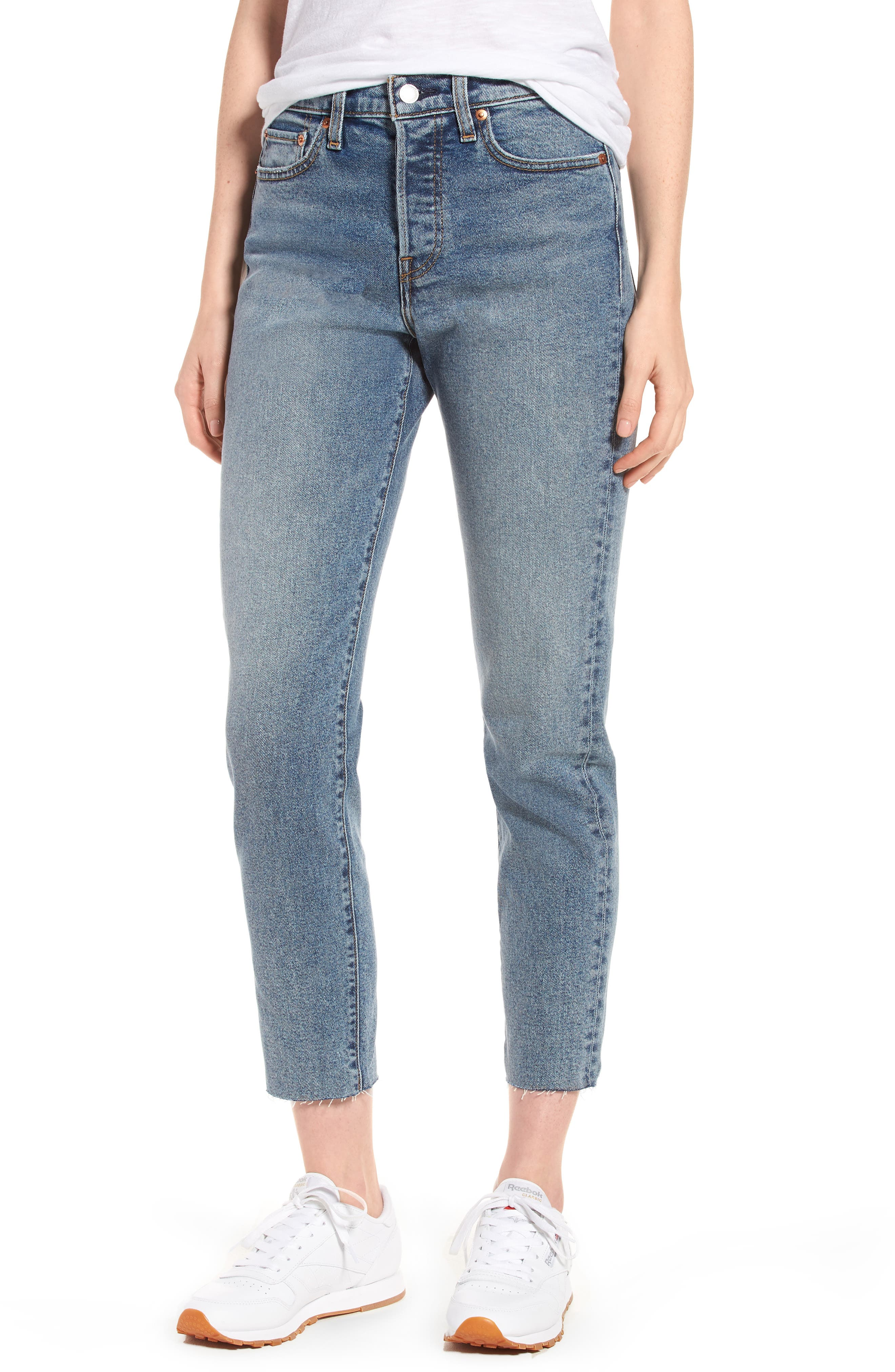 Wedgie Icon Fit High Waist Crop Jeans,                             Main thumbnail 1, color,                             401