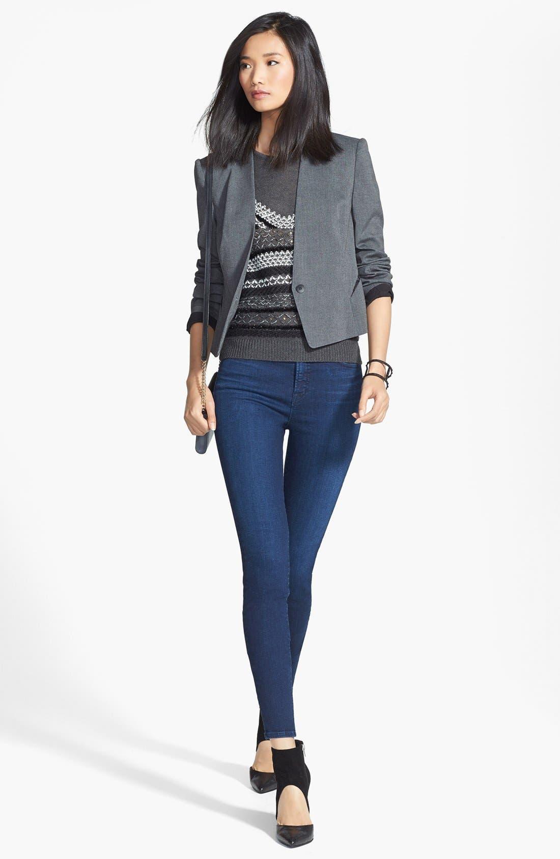 J BRAND,                             'Maria' High Rise Skinny Jeans,                             Alternate thumbnail 2, color,                             400