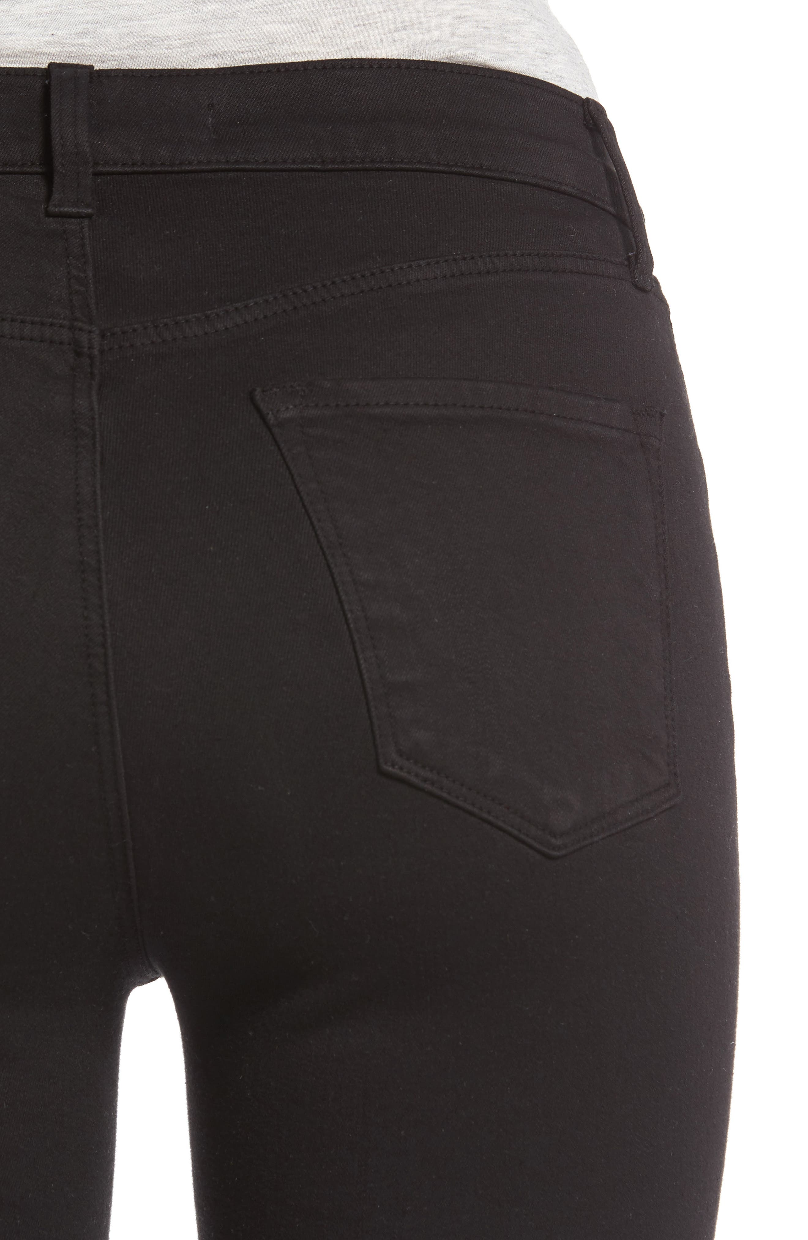 Maria High Waist Skinny Jeans,                             Alternate thumbnail 4, color,                             BLACK
