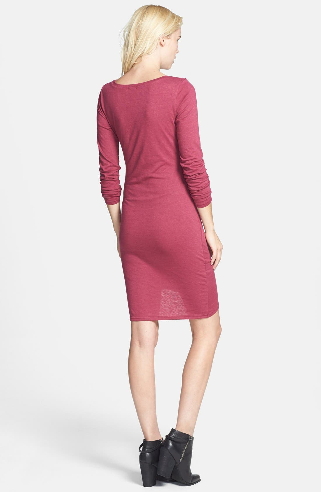 Ruched Long Sleeve Dress,                             Alternate thumbnail 54, color,