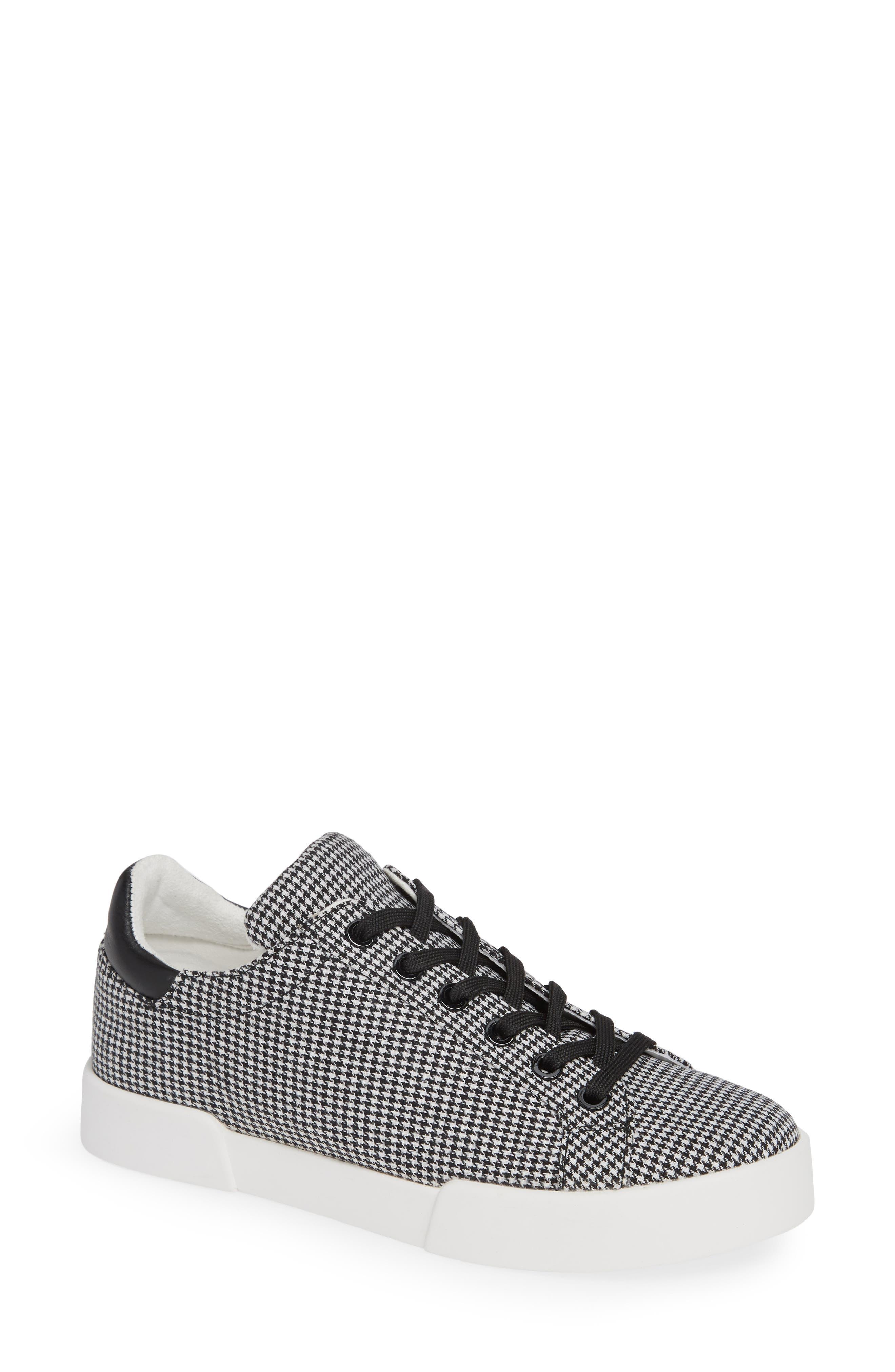 Tyler Sneaker,                             Main thumbnail 1, color,                             BLACK/ WHITE FABRIC