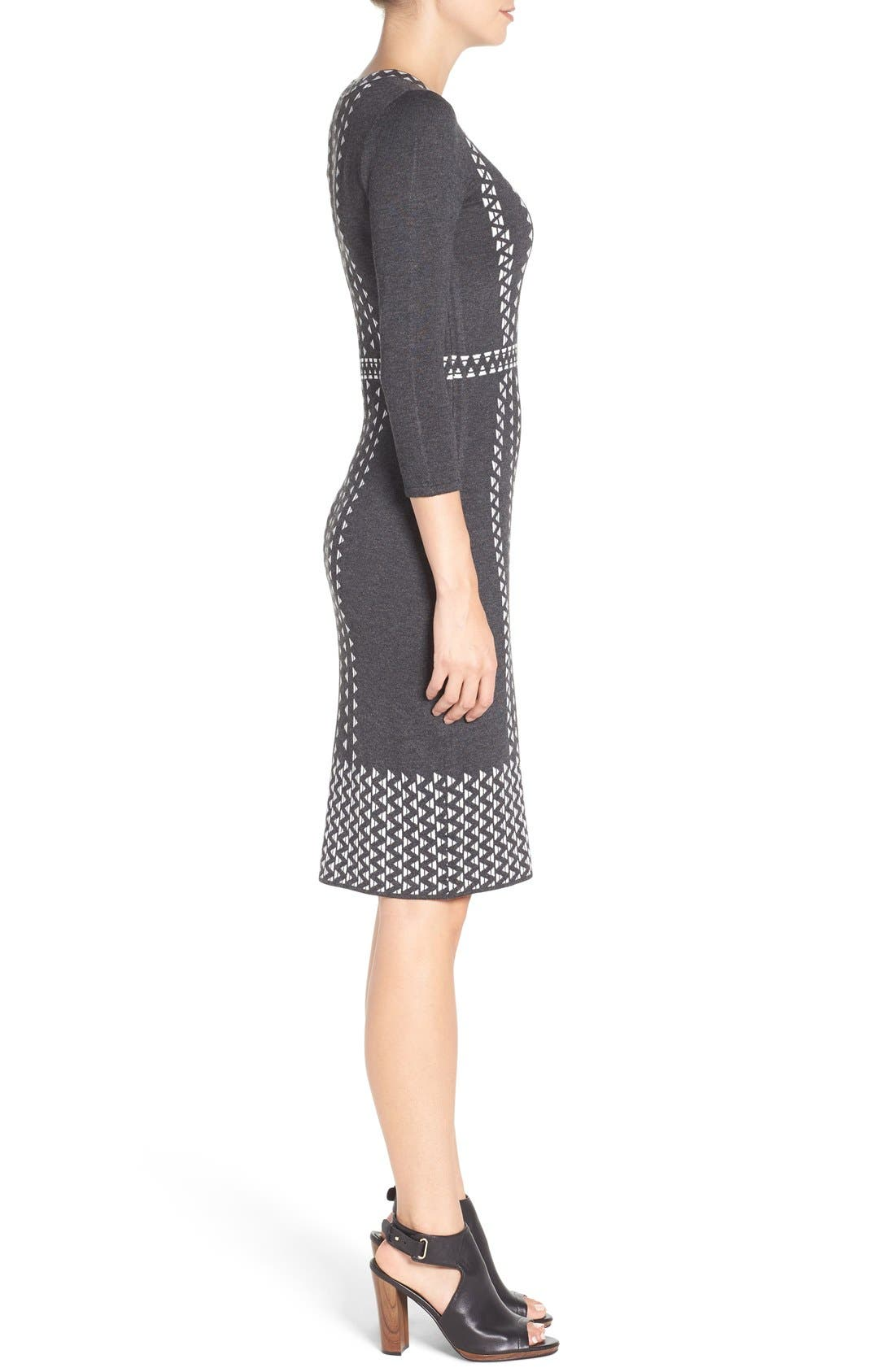 TAYLOR DRESSES,                             Sweater Sheath Dress,                             Alternate thumbnail 4, color,                             021