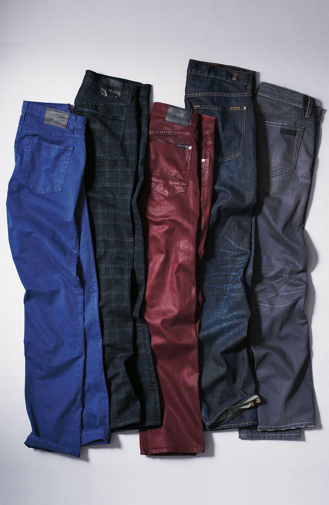 'Normandie' Slim Straight Leg Pants, Main, color, 001