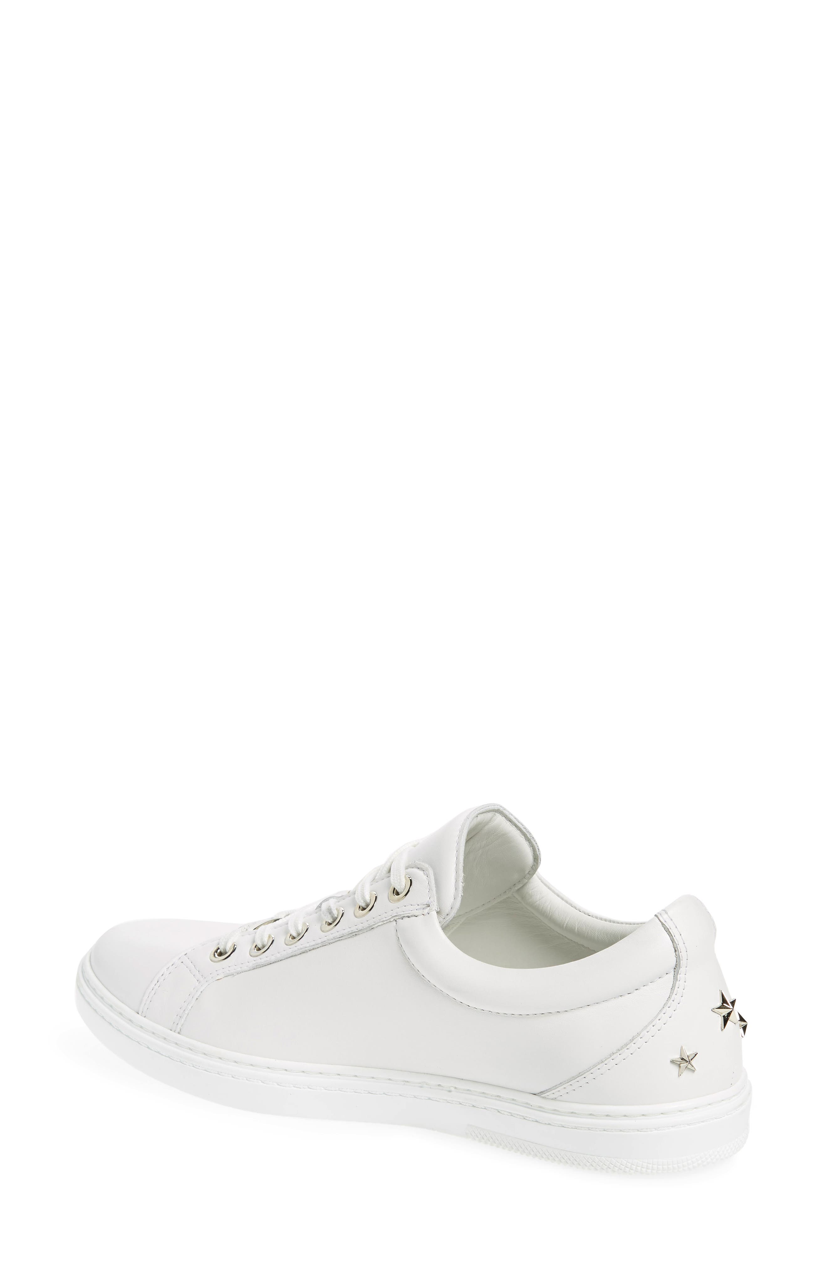JIMMY CHOO,                             Cash Star Sneaker,                             Alternate thumbnail 2, color,                             WHITE