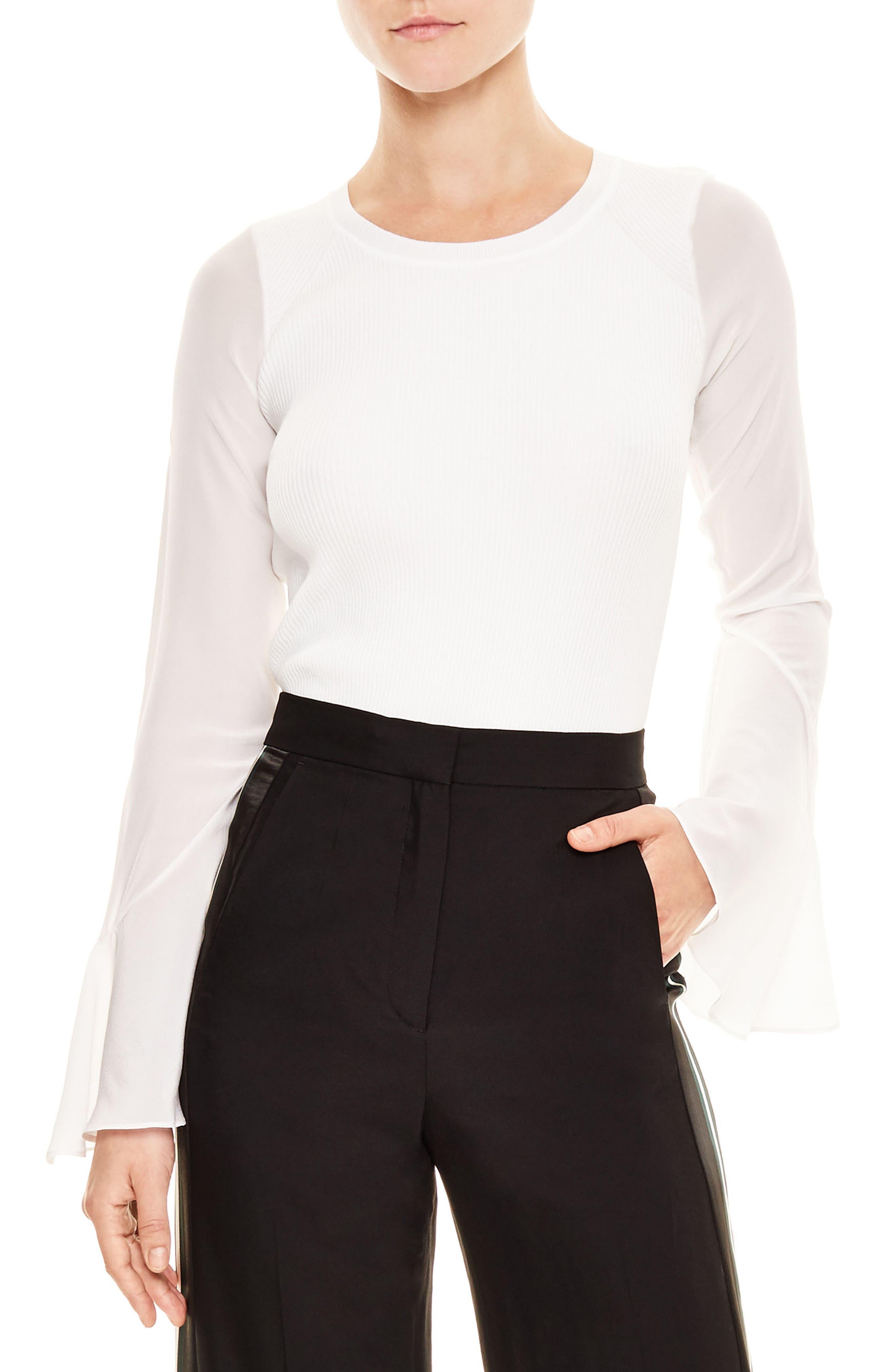 Brenda Silk Shirt,                         Main,                         color, 001