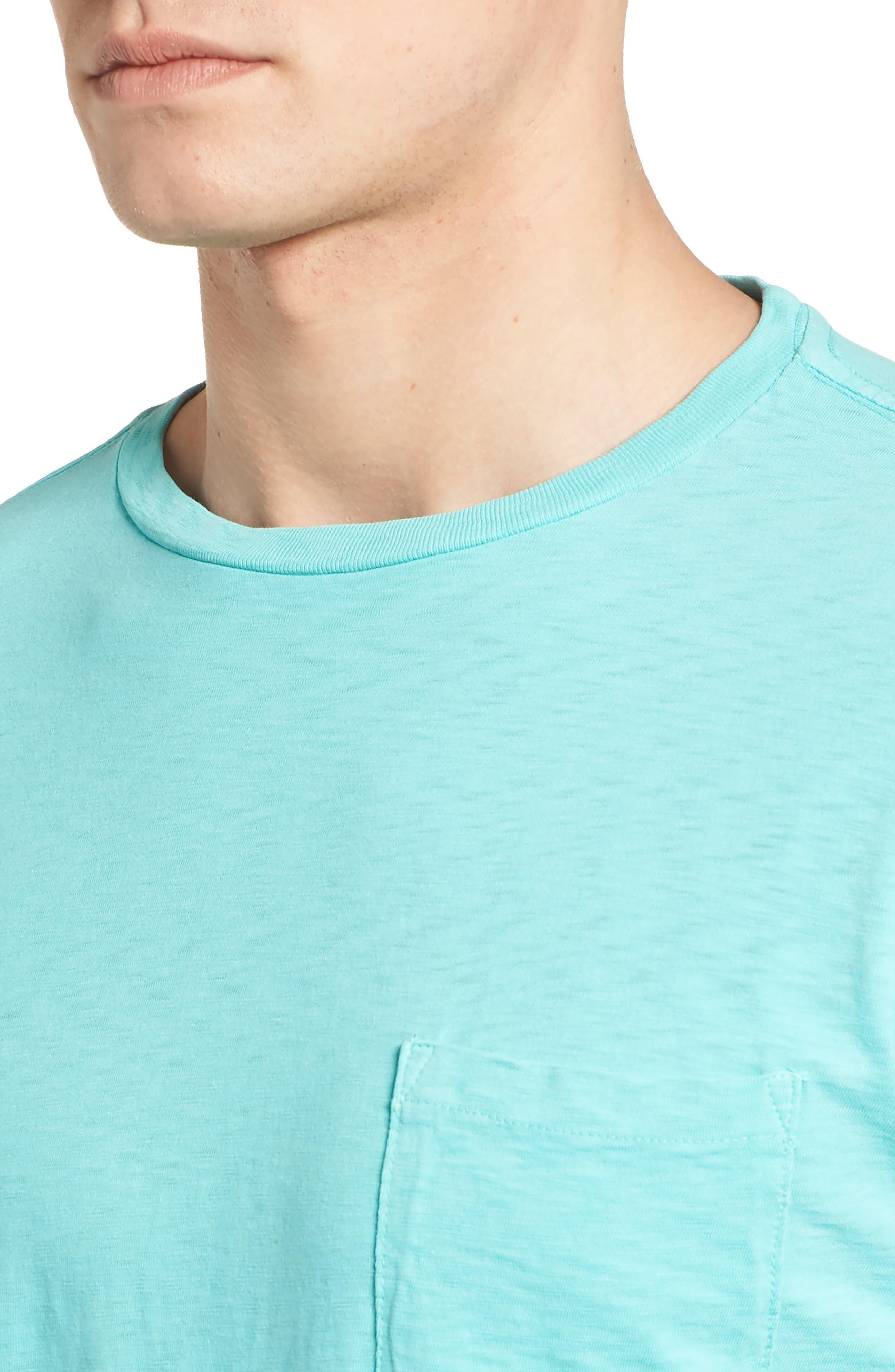 Slub Knit T-Shirt,                             Alternate thumbnail 4, color,                             100