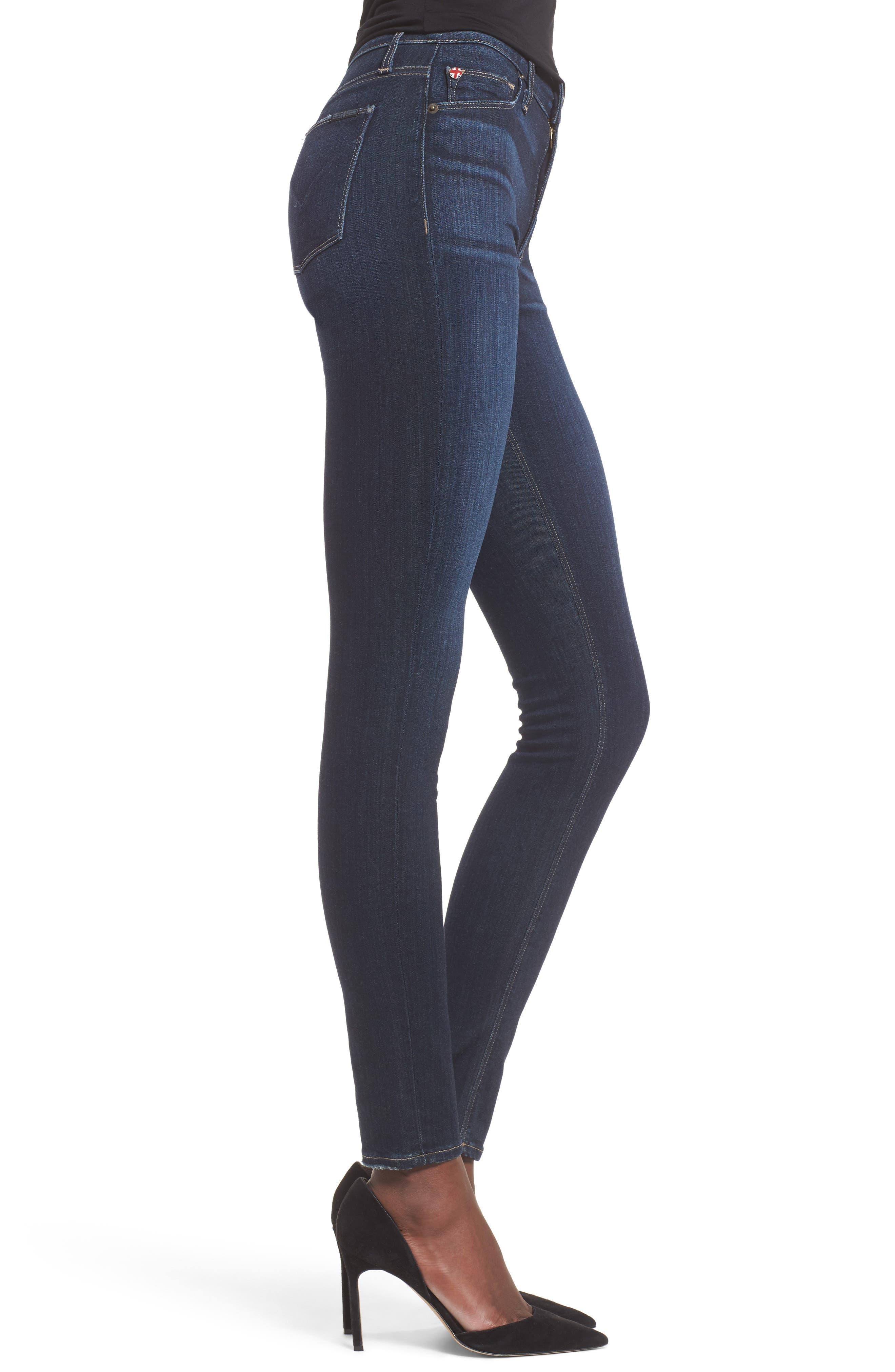 Barbara High Waist Super Skinny Jeans,                             Alternate thumbnail 6, color,