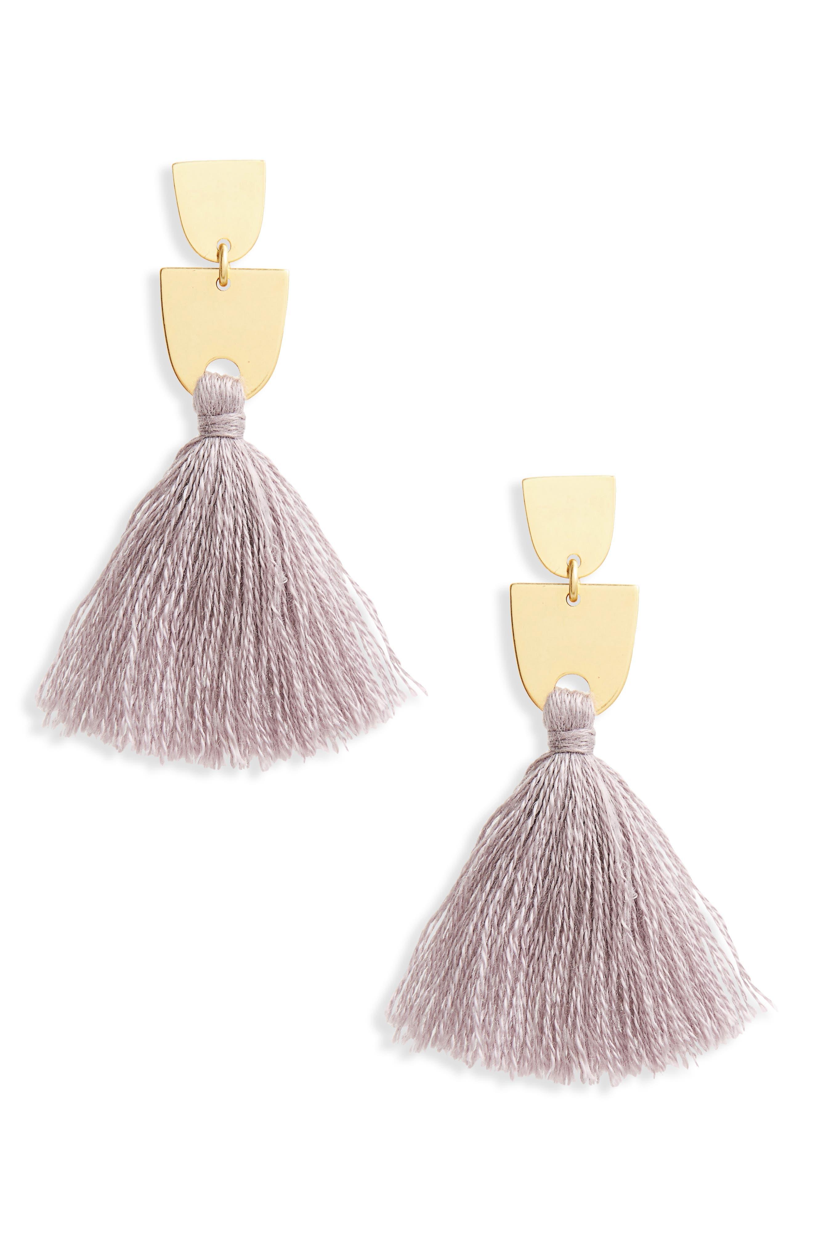 Tassel Drop Earrings,                             Main thumbnail 1, color,                             500