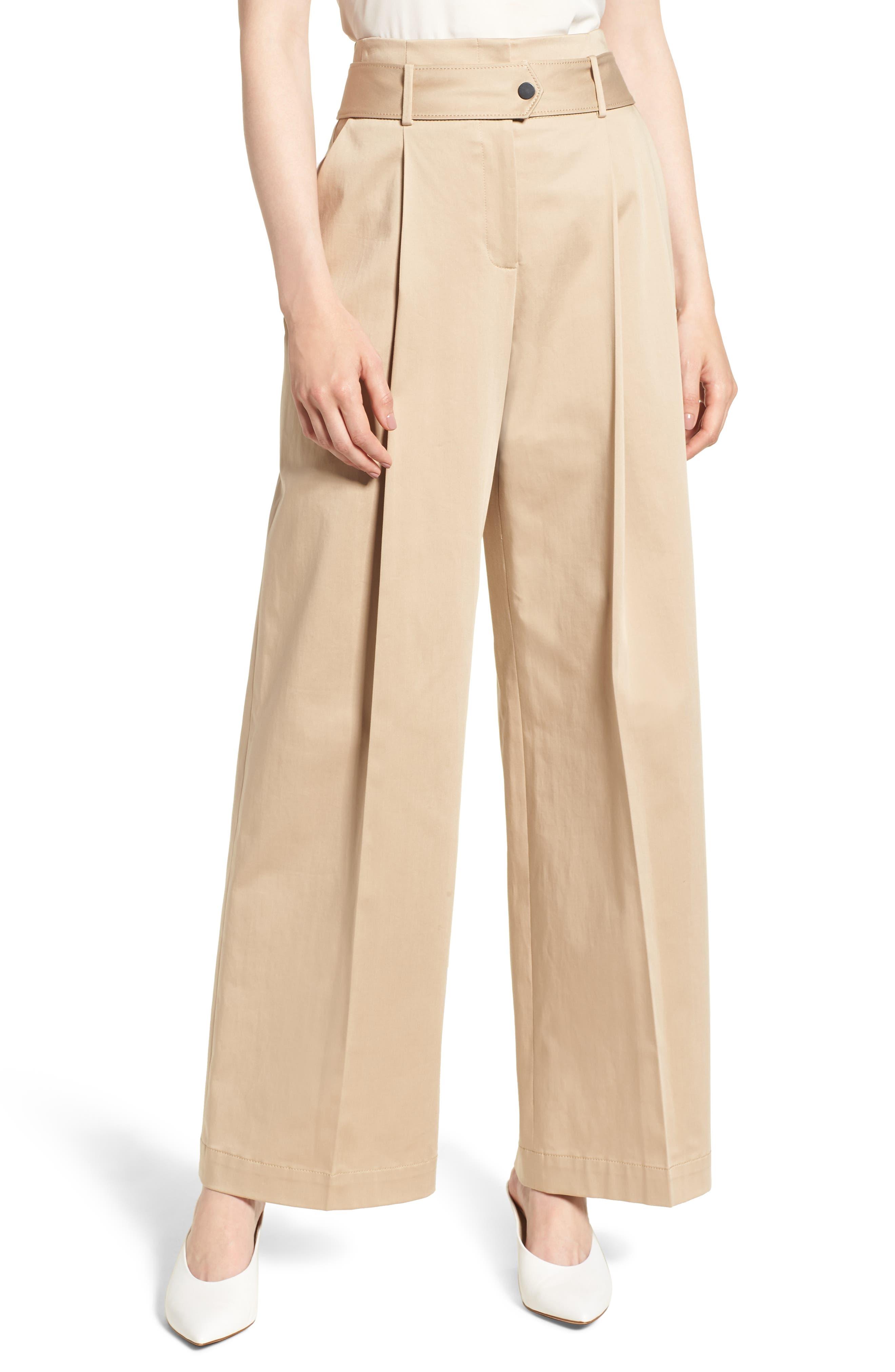 Wide Leg Pants, Main, color, BEIGE CEMENT