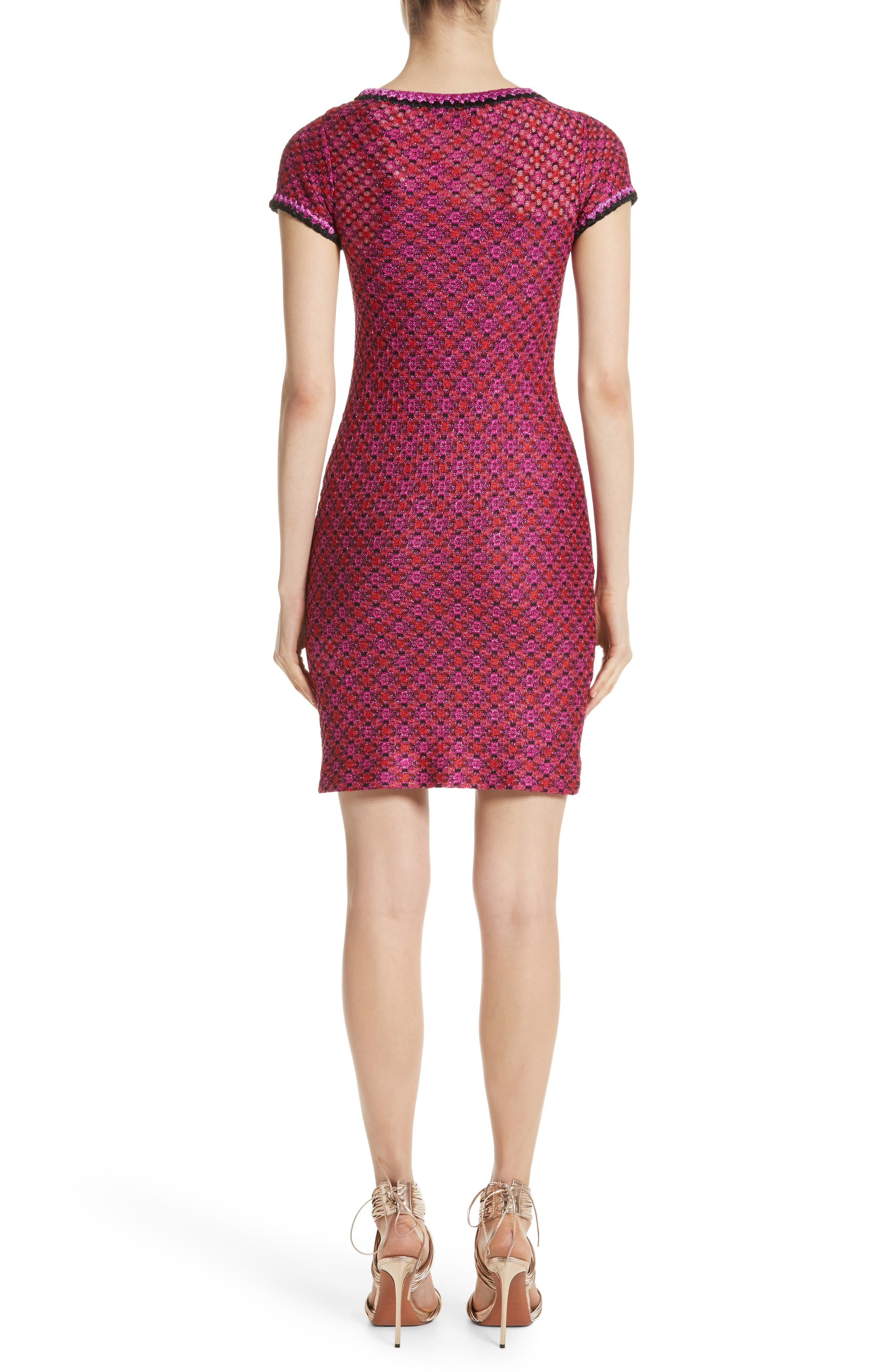 Metallic Zigzag Knit Dress,                             Alternate thumbnail 2, color,                             650