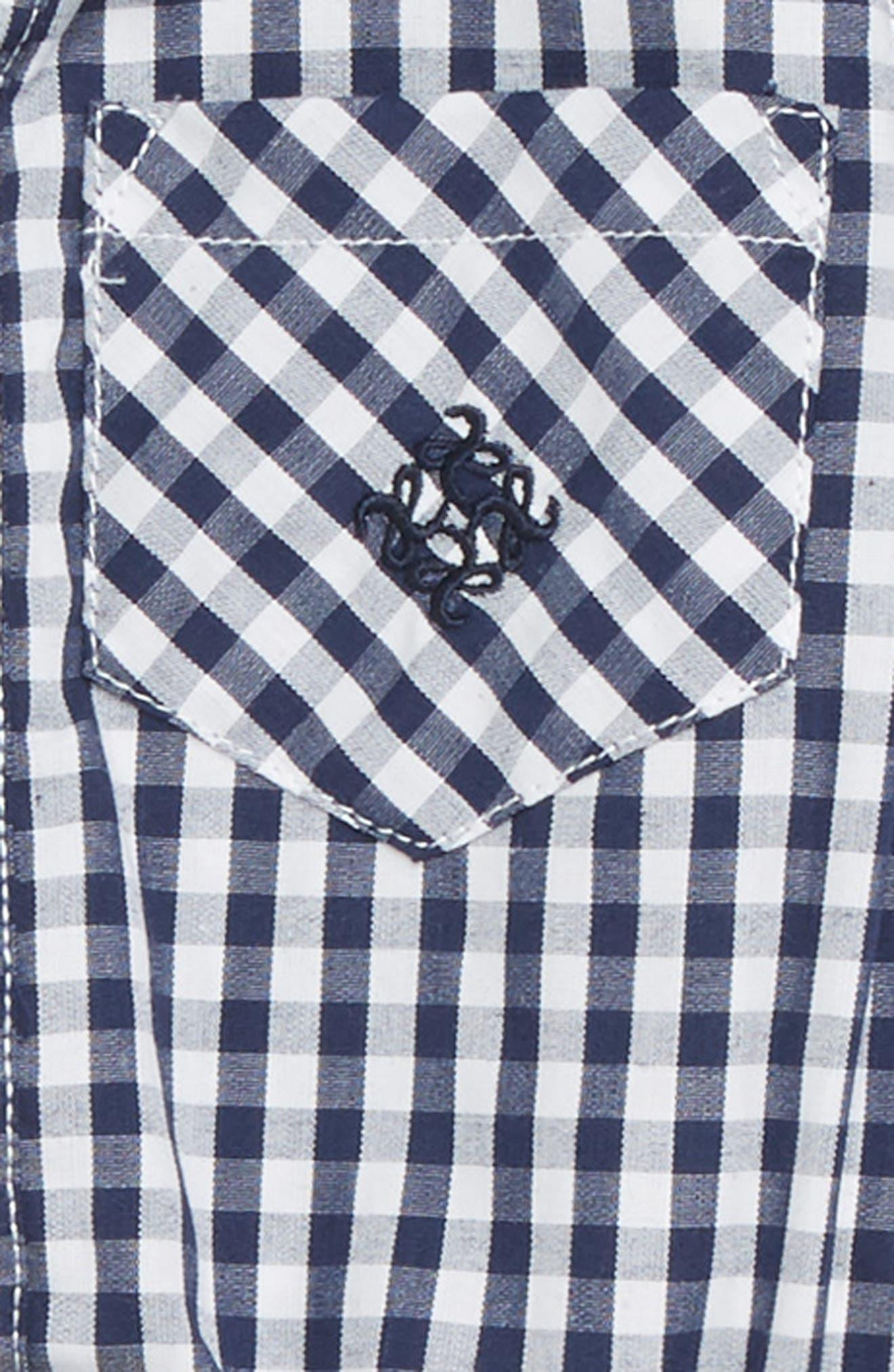 Shirtzie Gingham Check Bodysuit & Pants Set,                             Alternate thumbnail 2, color,