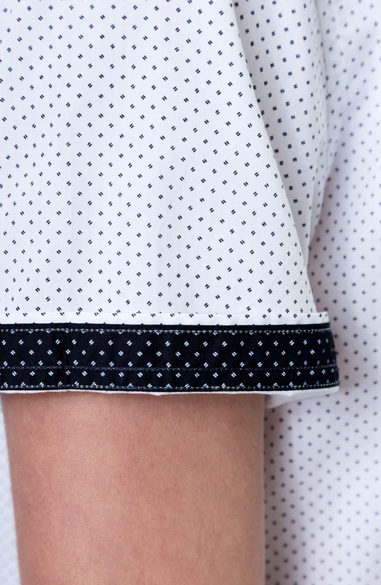 Move On Microprint Woven Shirt,                             Alternate thumbnail 4, color,                             100
