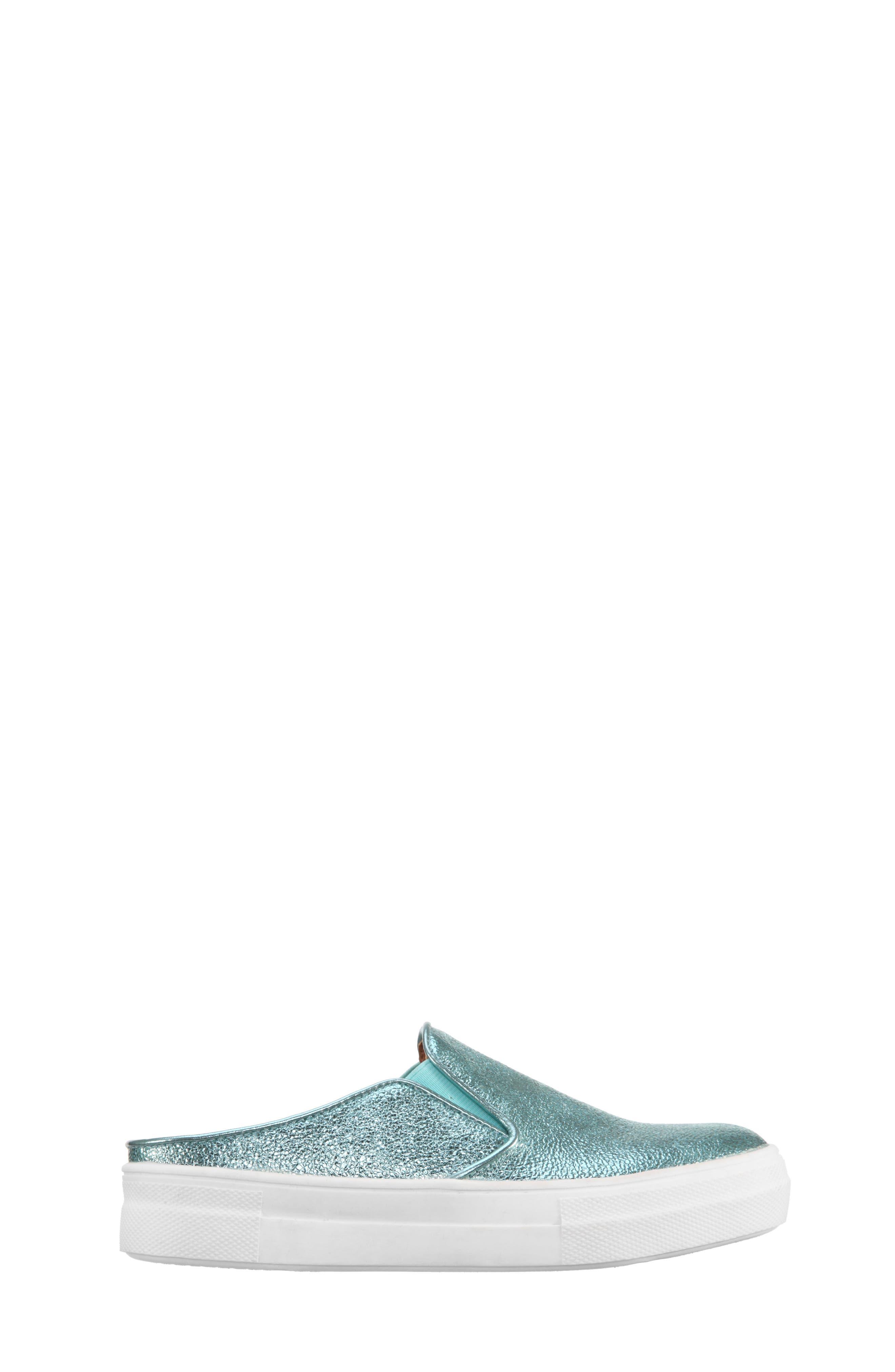 Gail Metallic Slip-On Sneaker Mule,                             Alternate thumbnail 8, color,