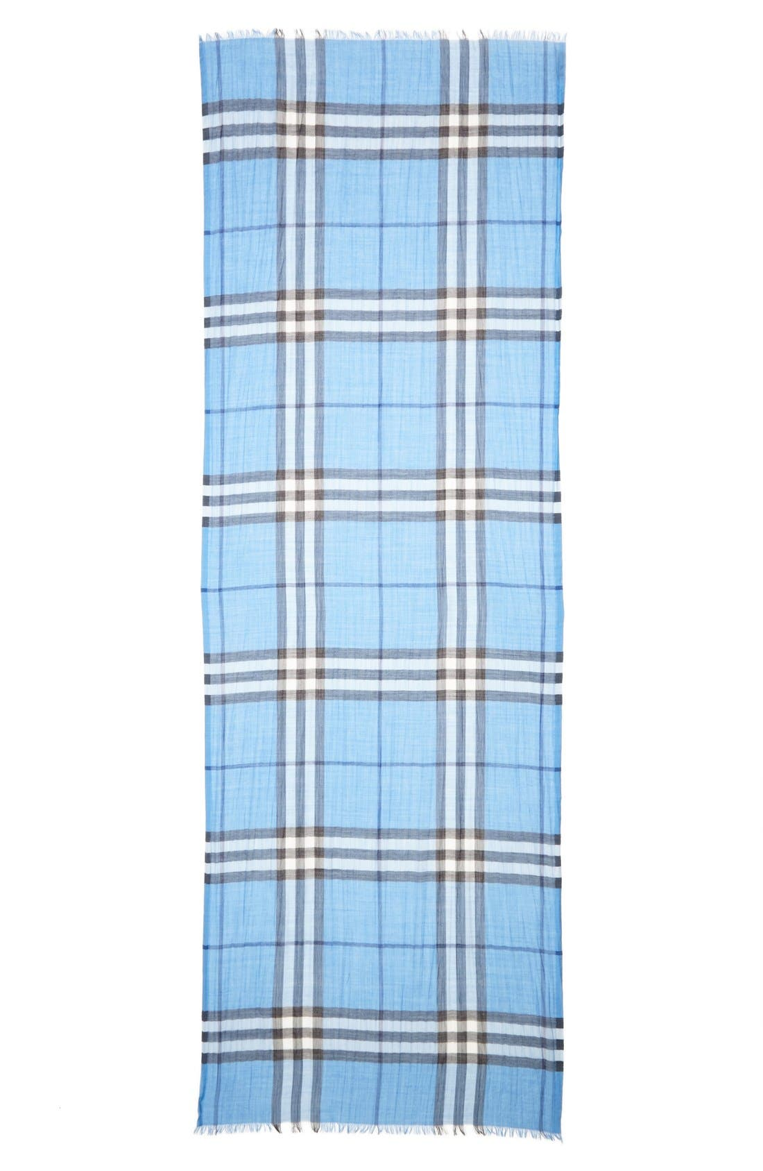 Giant Check Print Wool & Silk Scarf,                             Alternate thumbnail 90, color,