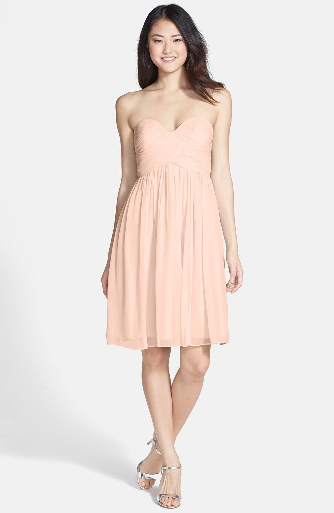 'Morgan' Strapless Silk Chiffon Dress,                             Main thumbnail 39, color,