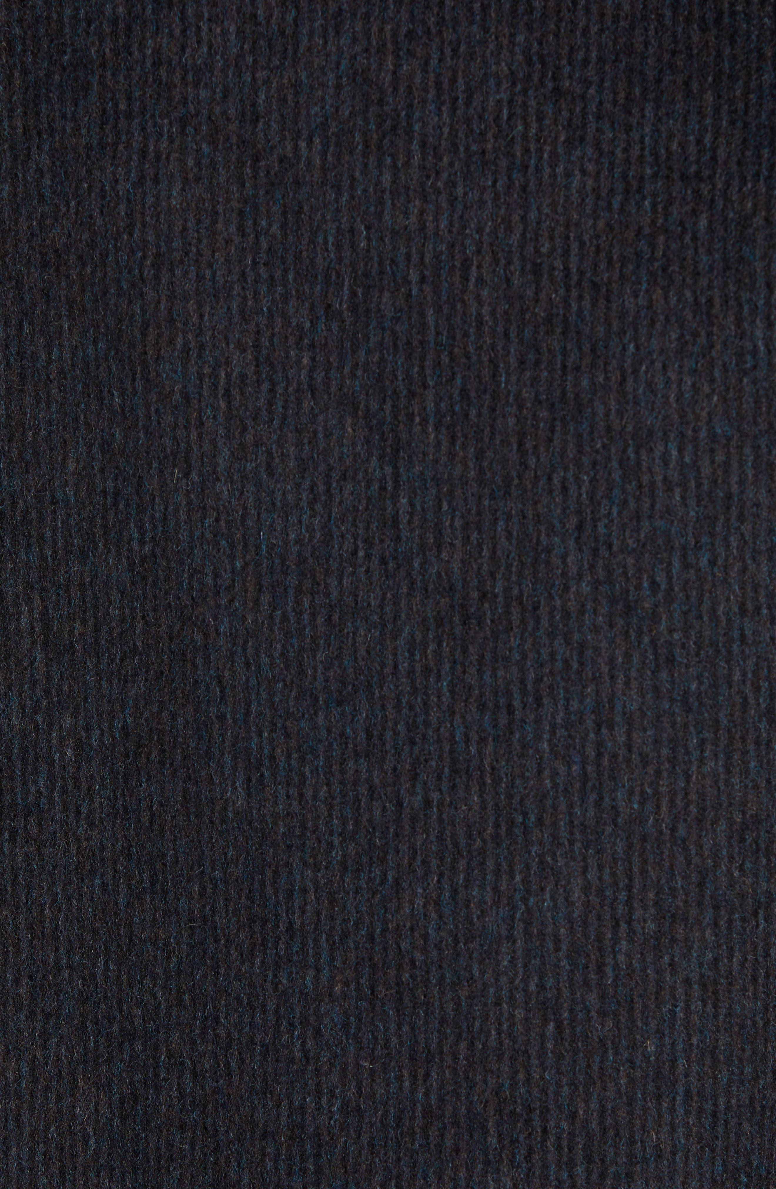 Wool Blend Car Coat,                             Alternate thumbnail 6, color,                             BLACK/ H CHARCOAL