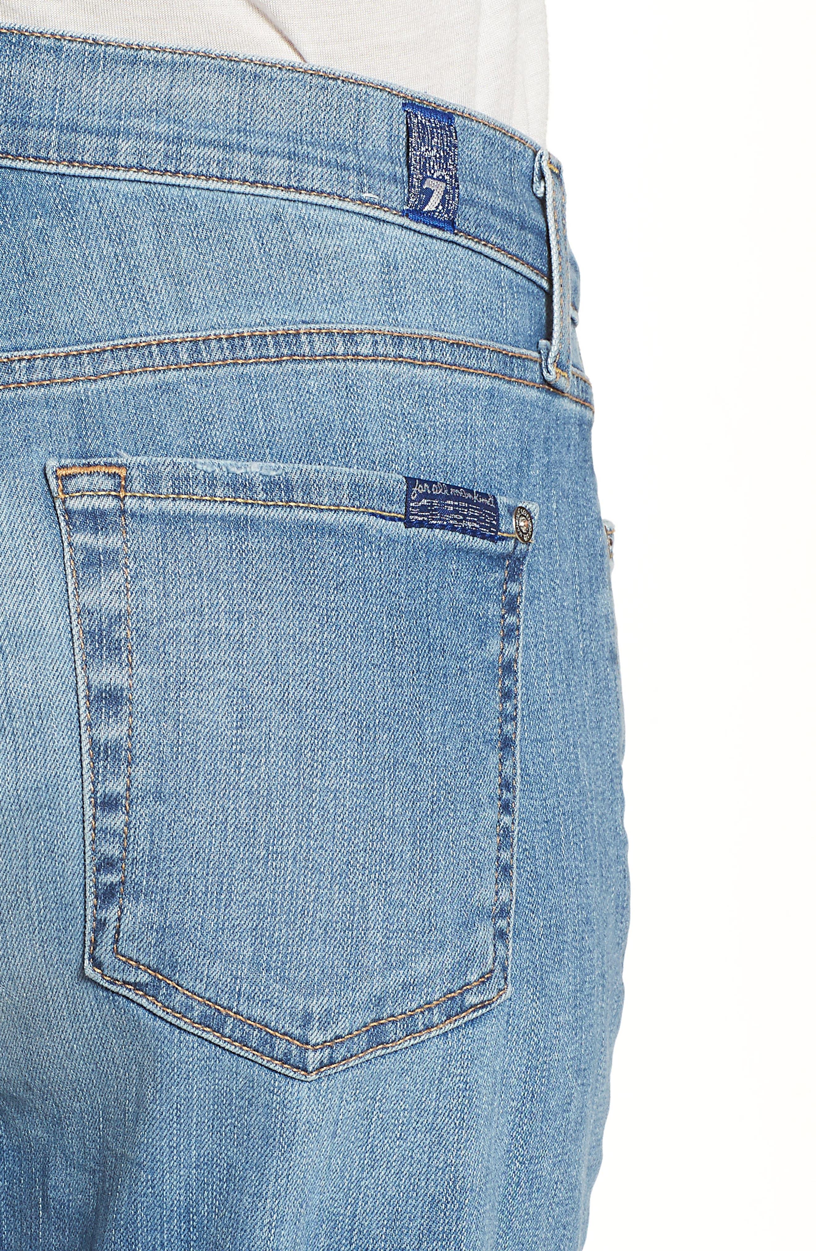 Josefina High Waist Boyfriend Jeans,                             Alternate thumbnail 4, color,