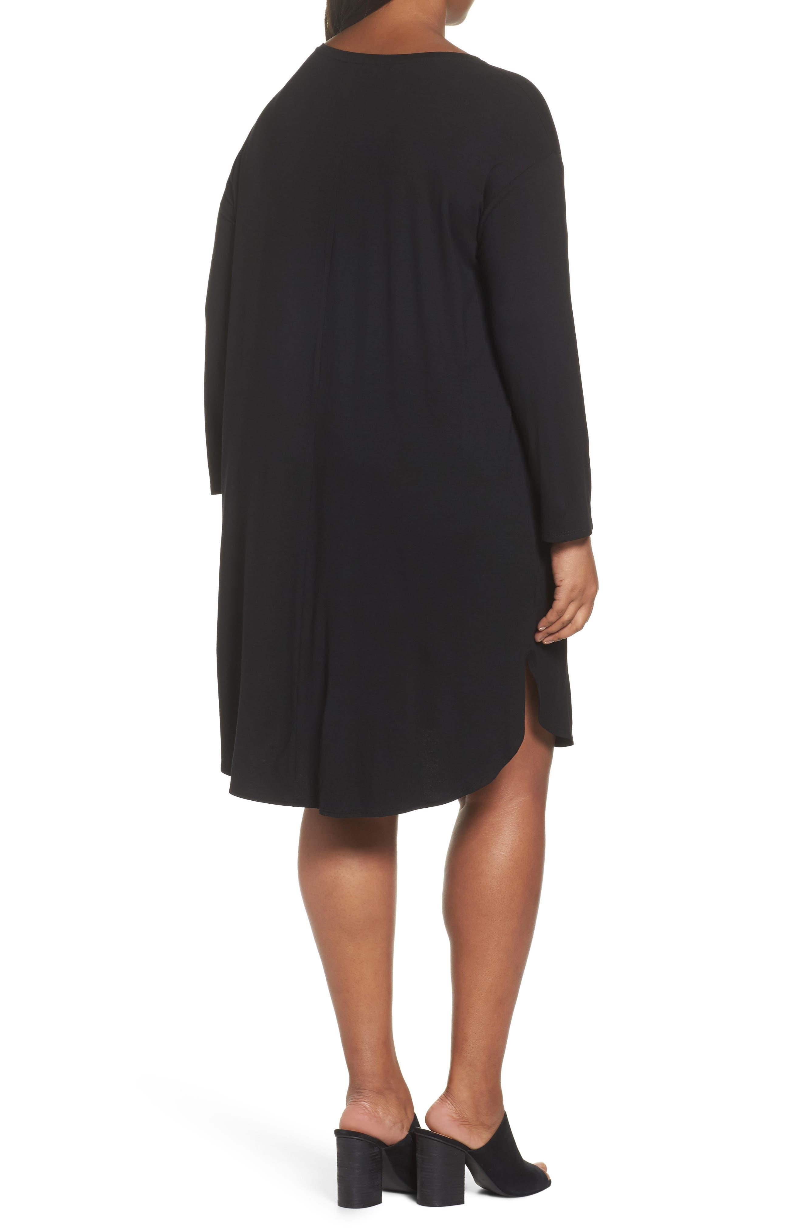 Jersey Shift Dress,                             Alternate thumbnail 2, color,                             001