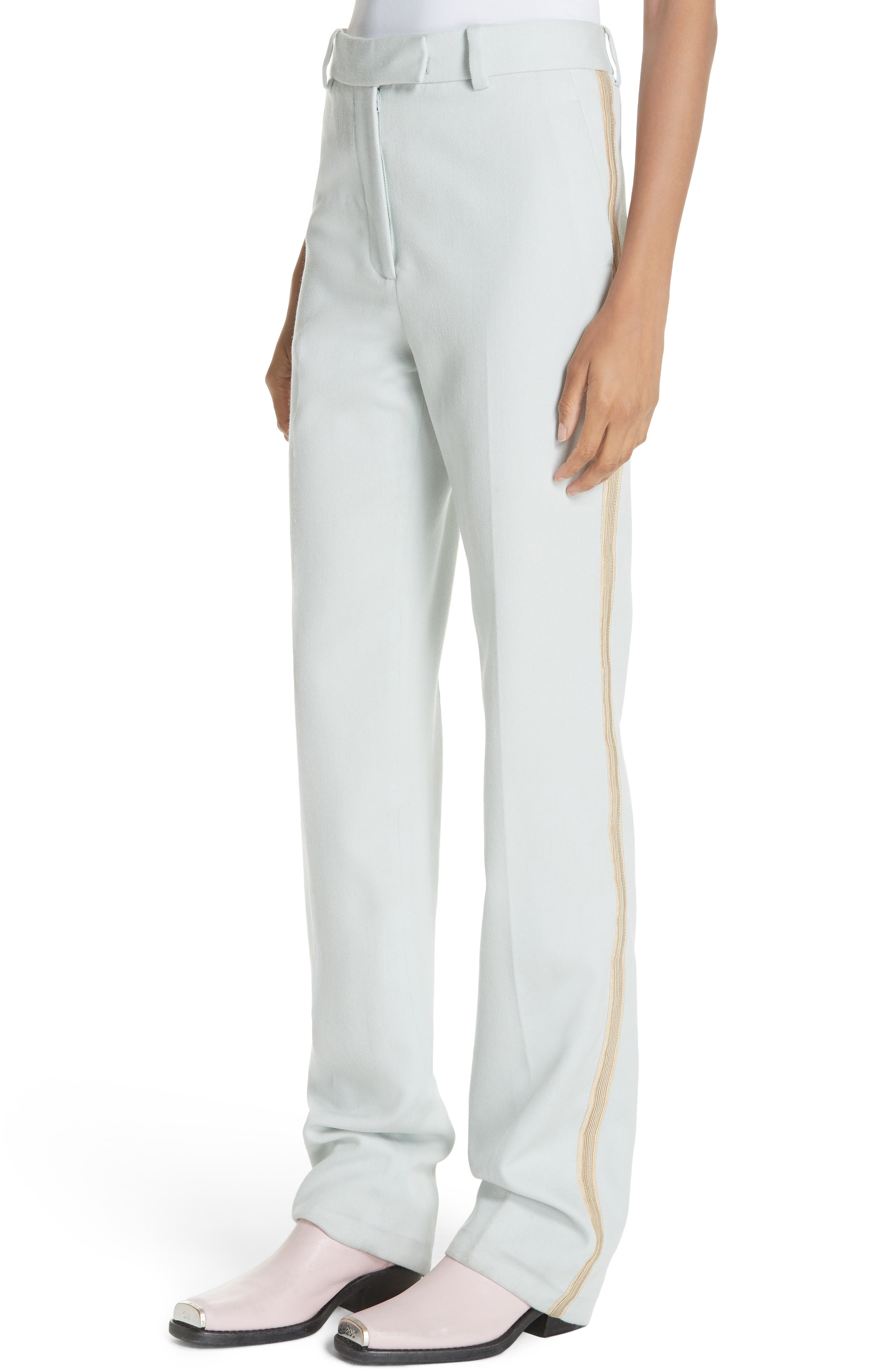 Wool Twill Marching Band Pants,                             Alternate thumbnail 4, color,                             LIGHT AQUA