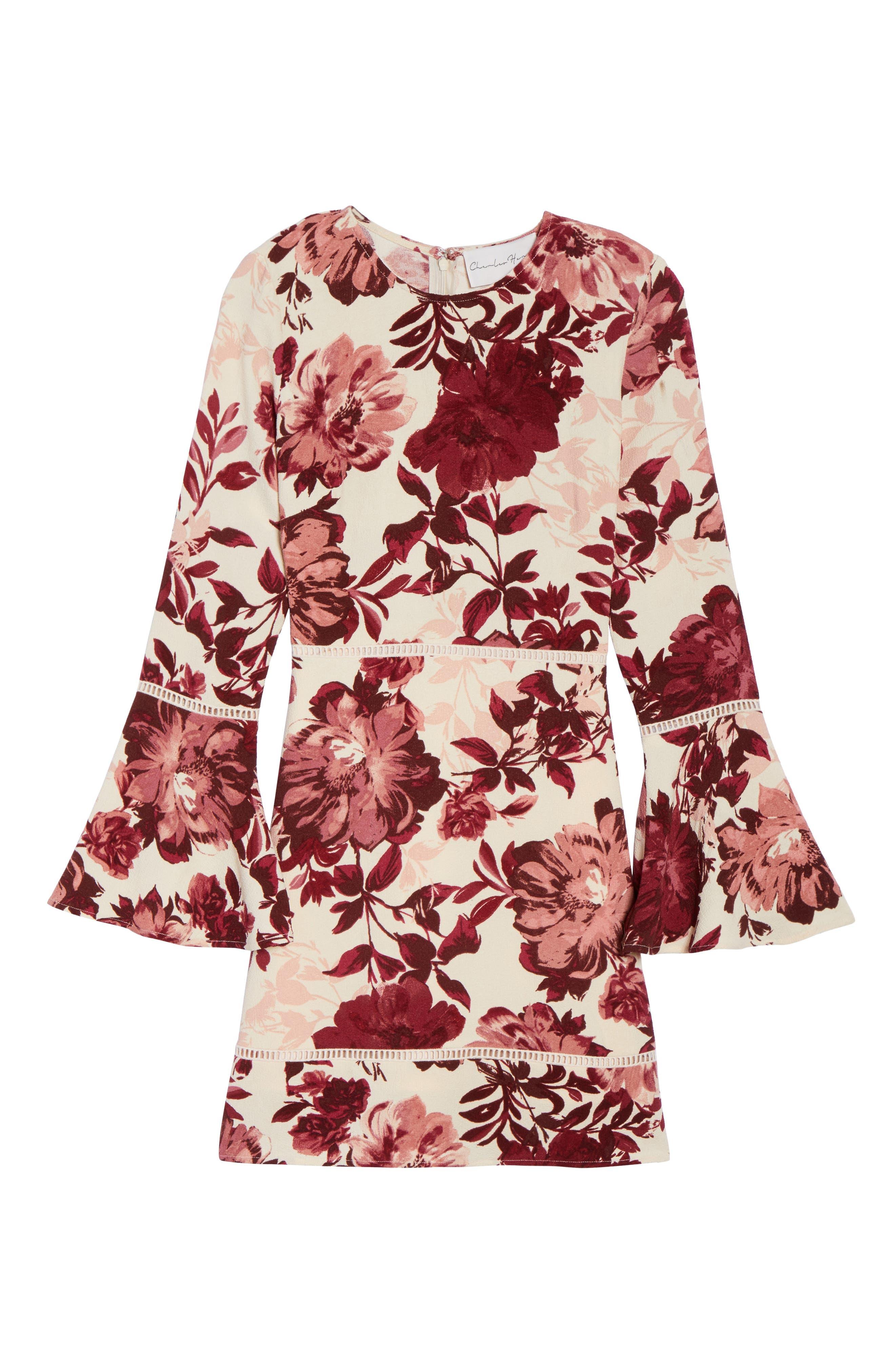 Bell Sleeve Minidress,                             Alternate thumbnail 6, color,                             658