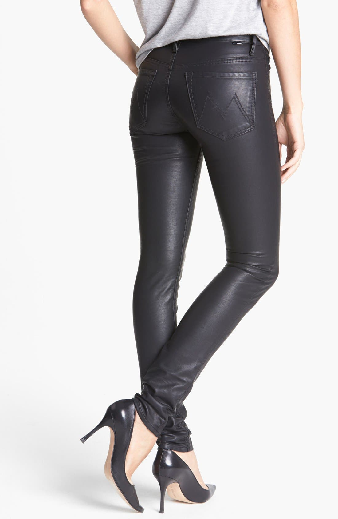 MOTHER,                             'The Muse' Faux Leather Pants,                             Alternate thumbnail 2, color,                             008