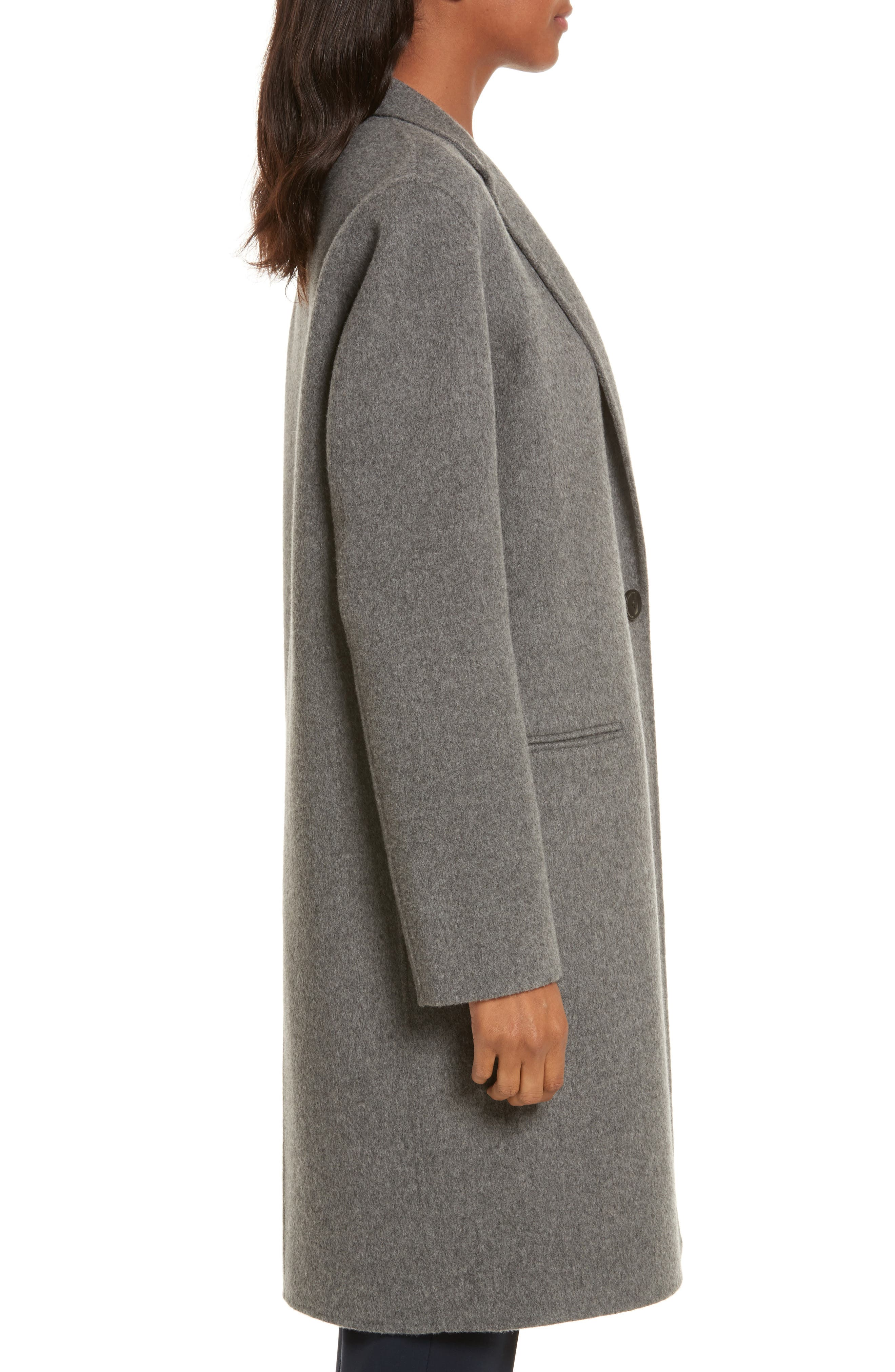 New Divide Wool & Cashmere Coat,                             Alternate thumbnail 3, color,                             021